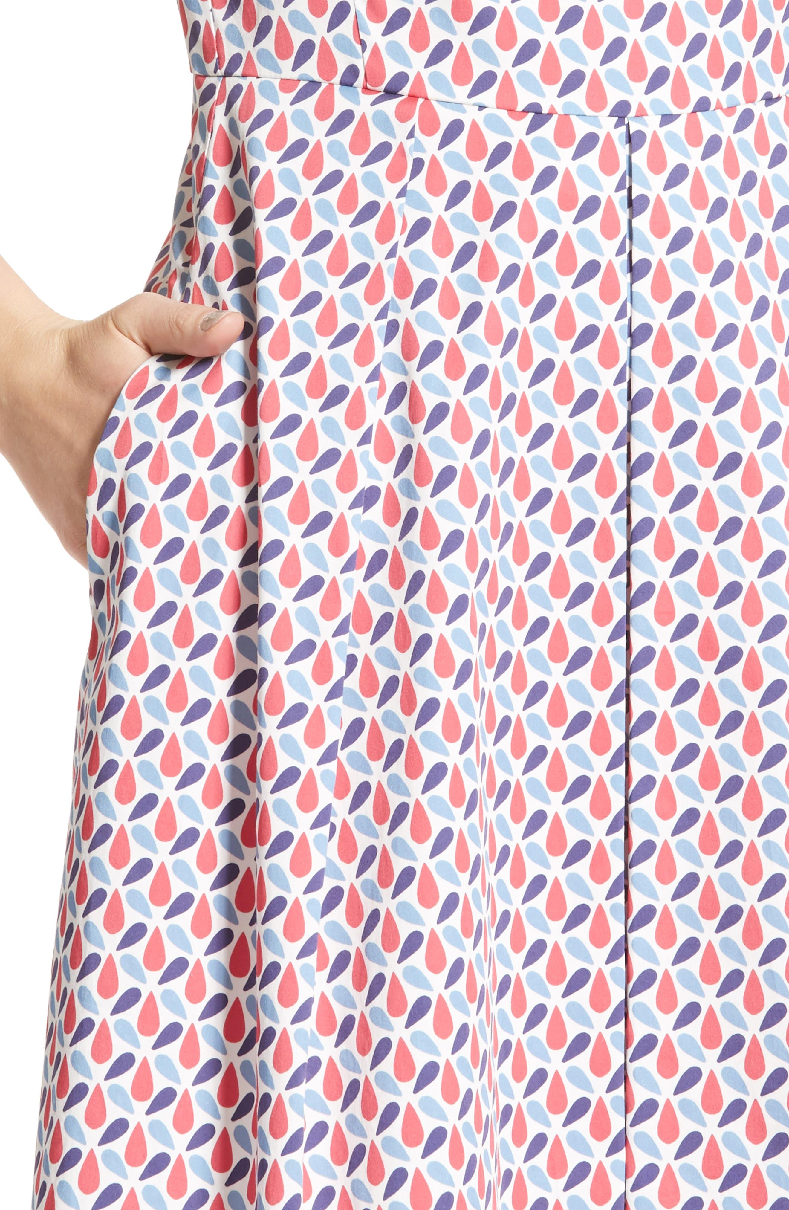 Alternate Image 6  - Armani Collezioni Print Cotton Fit & Flair Dress