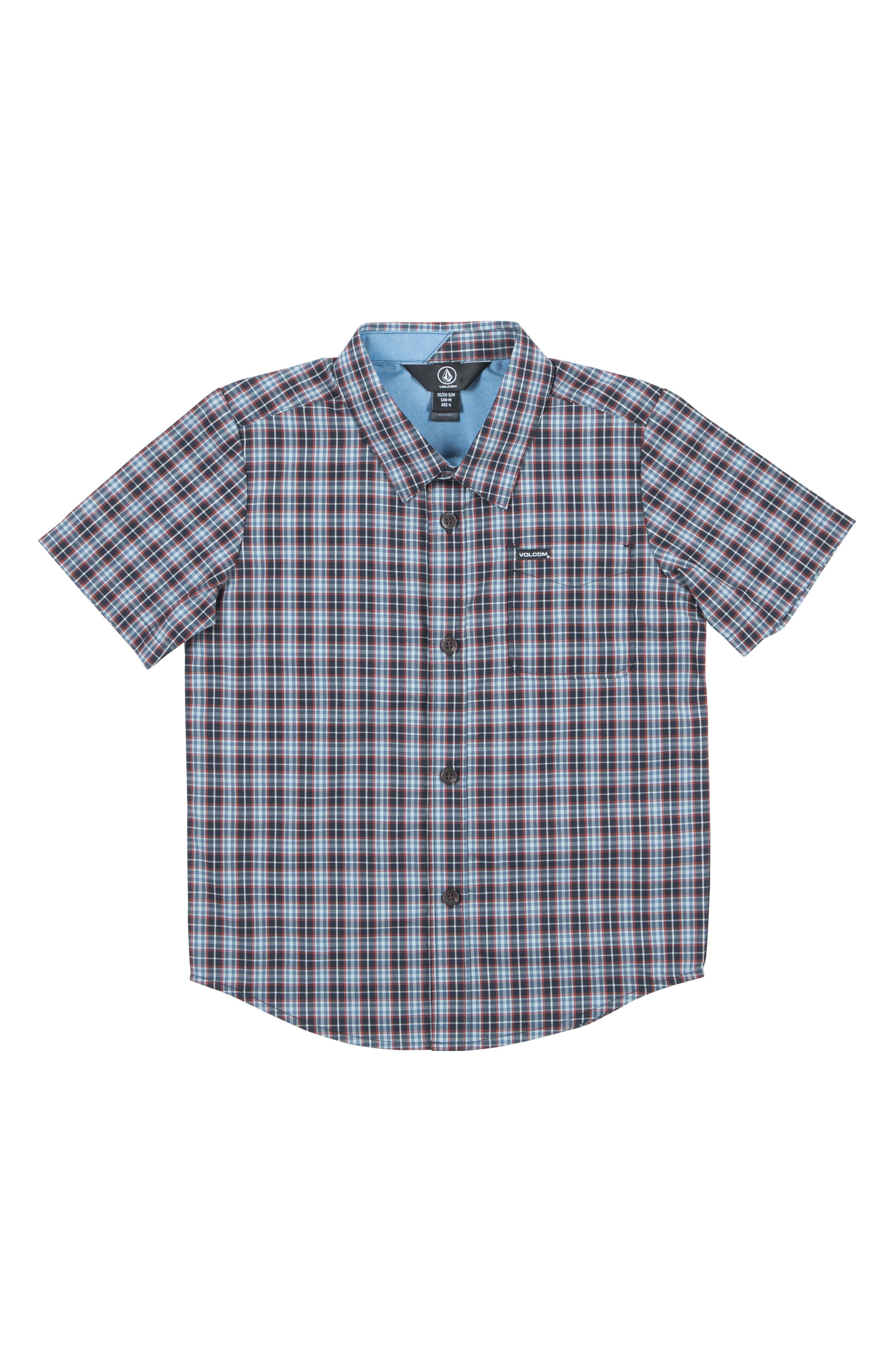 Volcom Harper Plaid Woven Shirt (Toddler Boys & Little Boys)