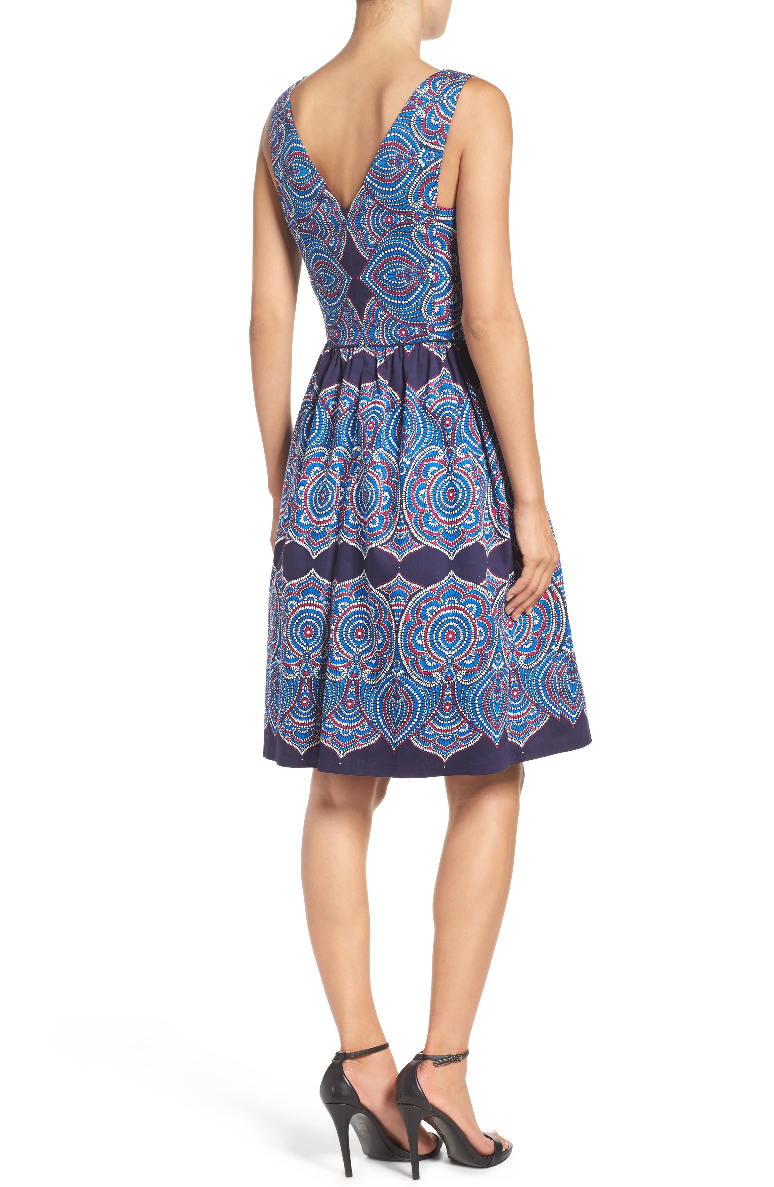Alternate Image 2  - Maggy London Print Fit & Flare Dress
