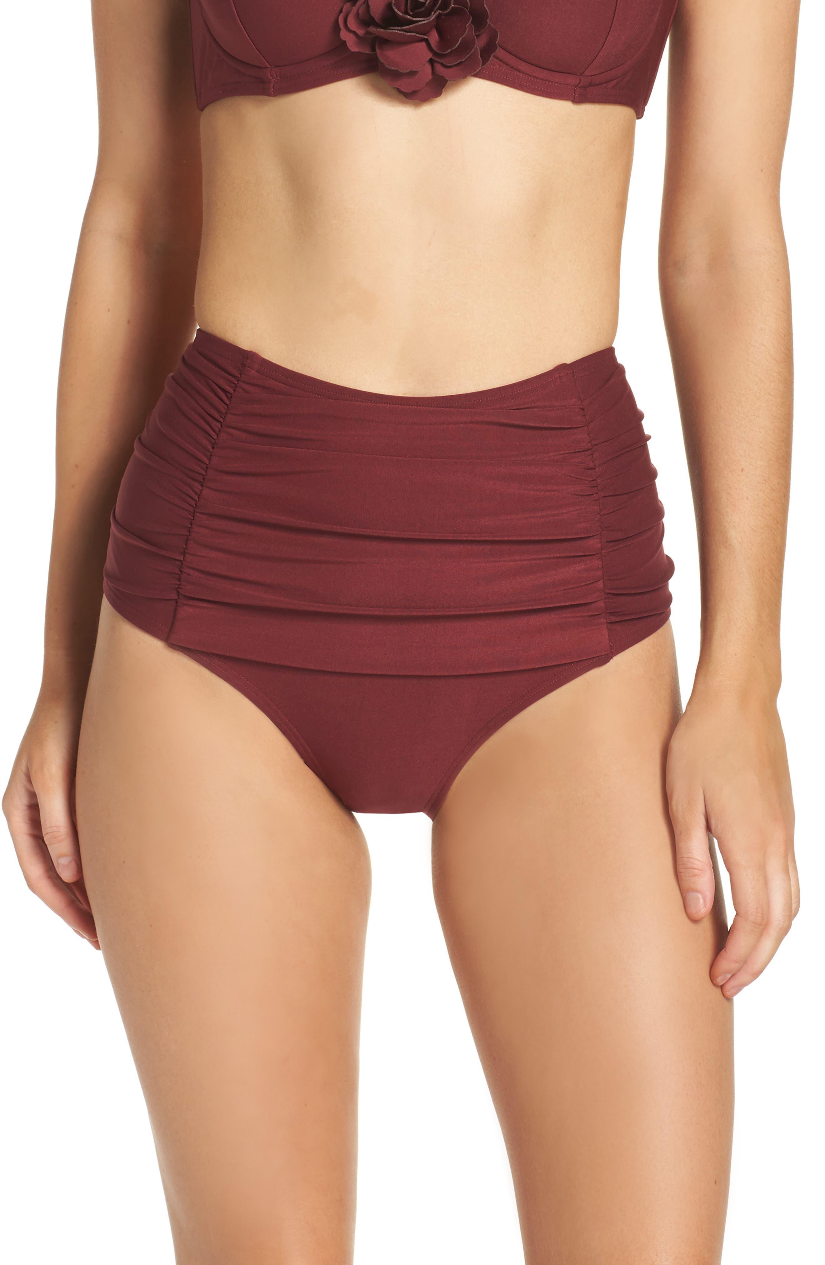 kate spade new york high waist bikini bottoms