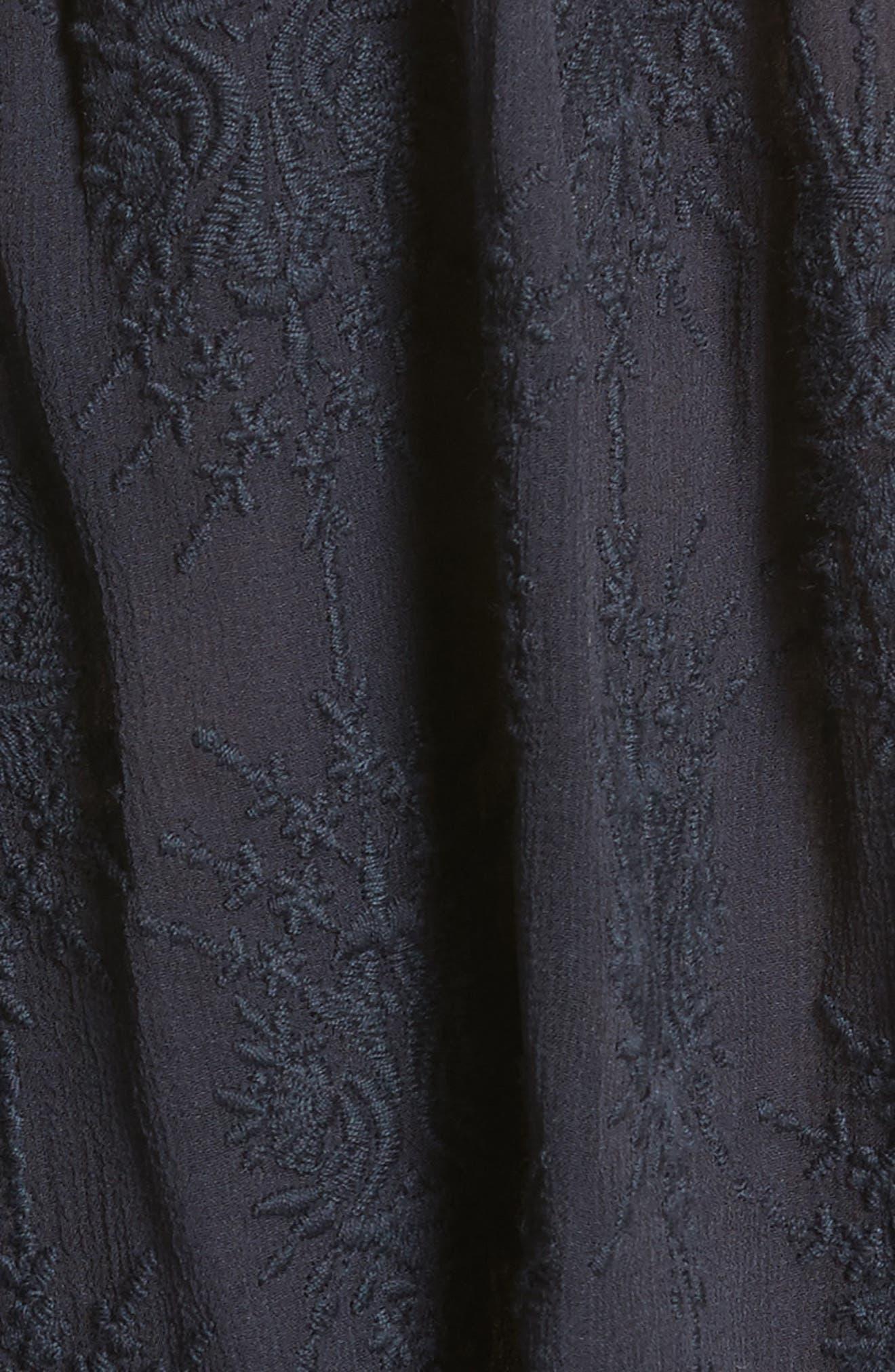 Alternate Image 5  - Rebecca Taylor Cold Shoulder Silk Blouse