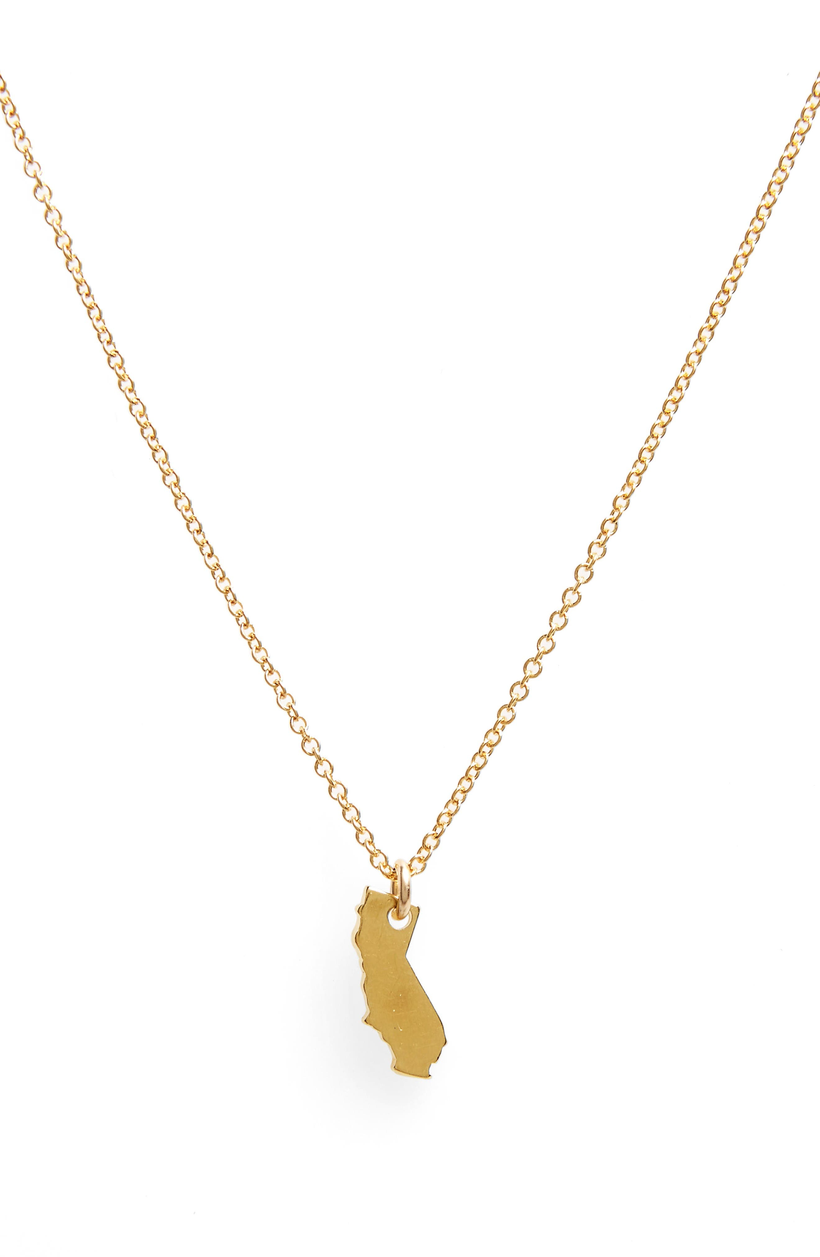 Alternate Image 3  - Dogeared I Heart California Pendant Necklace