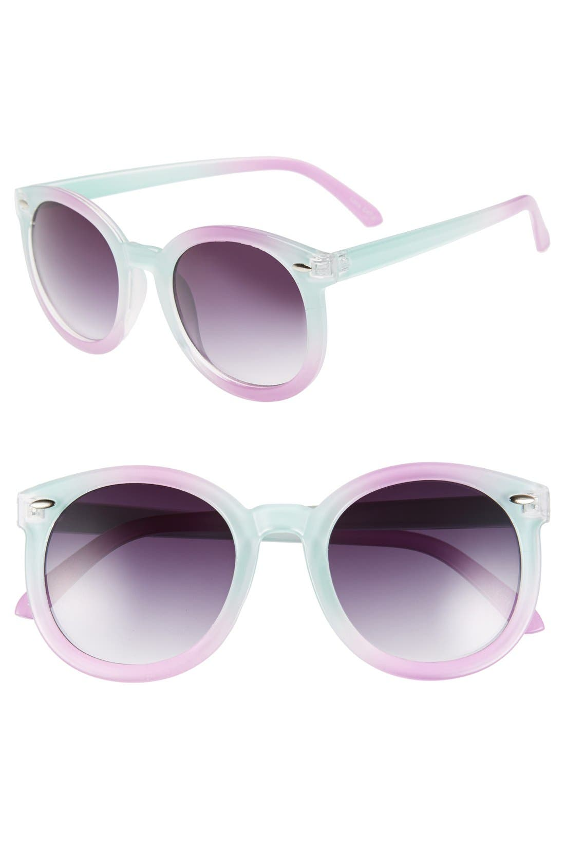 Main Image - Tildon 55mm Pastel Round Sunglasses