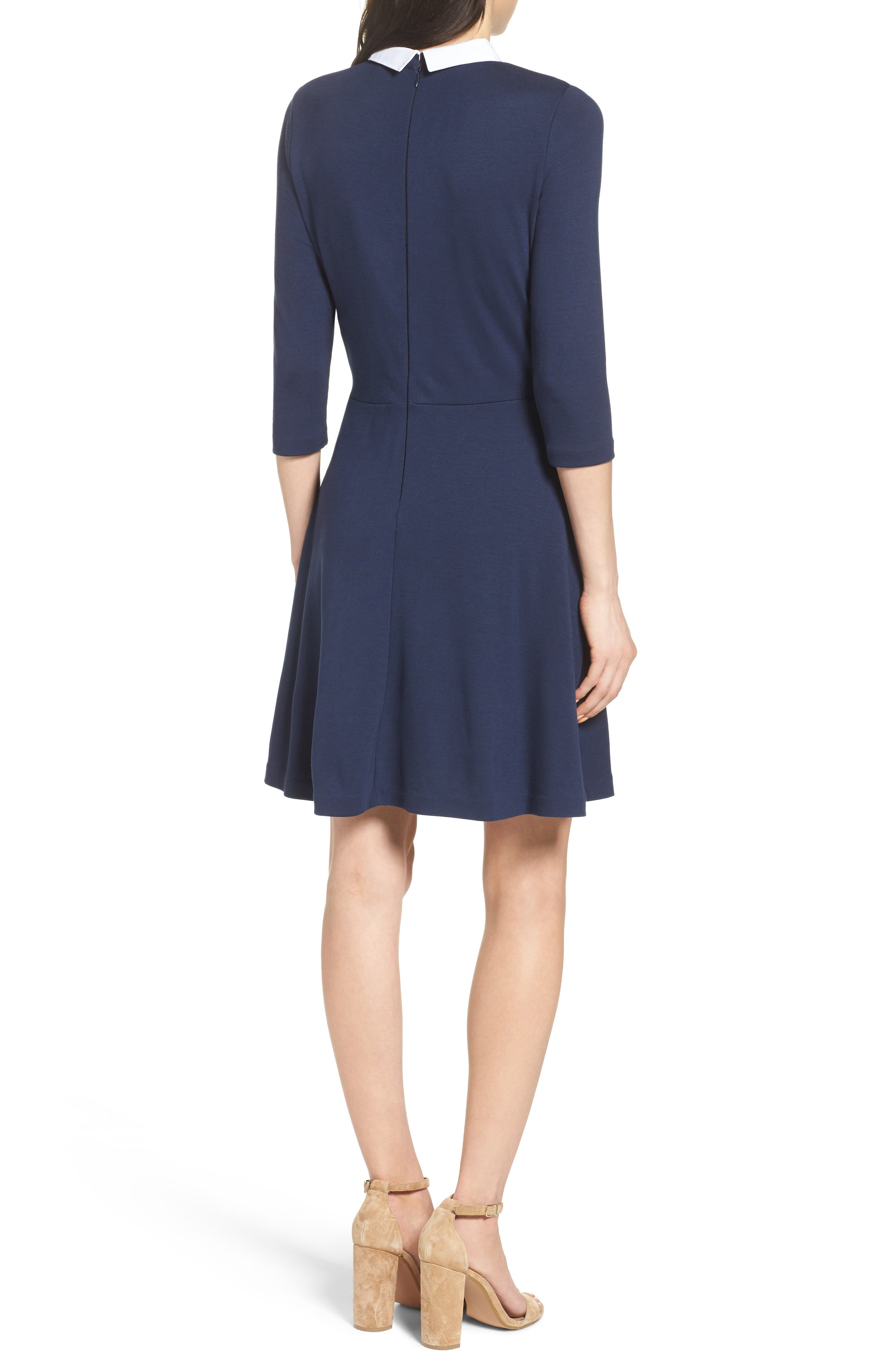 Alternate Image 2  - French Connection 'Fast Fresh' Collared Jersey Fit & Flare Dress