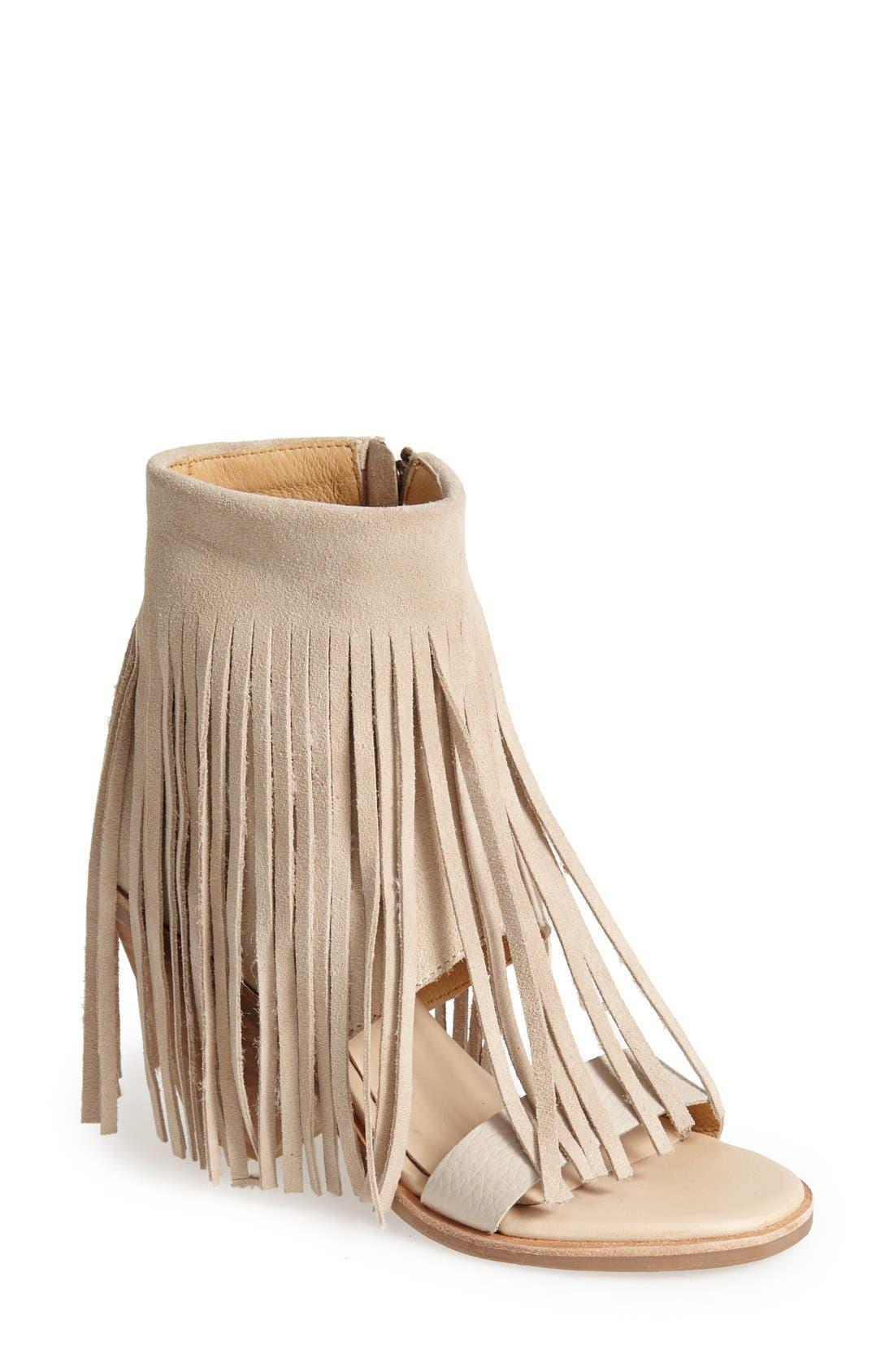 Alternate Image 1 Selected - Koolaburra 'Piaz II' Fringed Boot Cuff Sandal