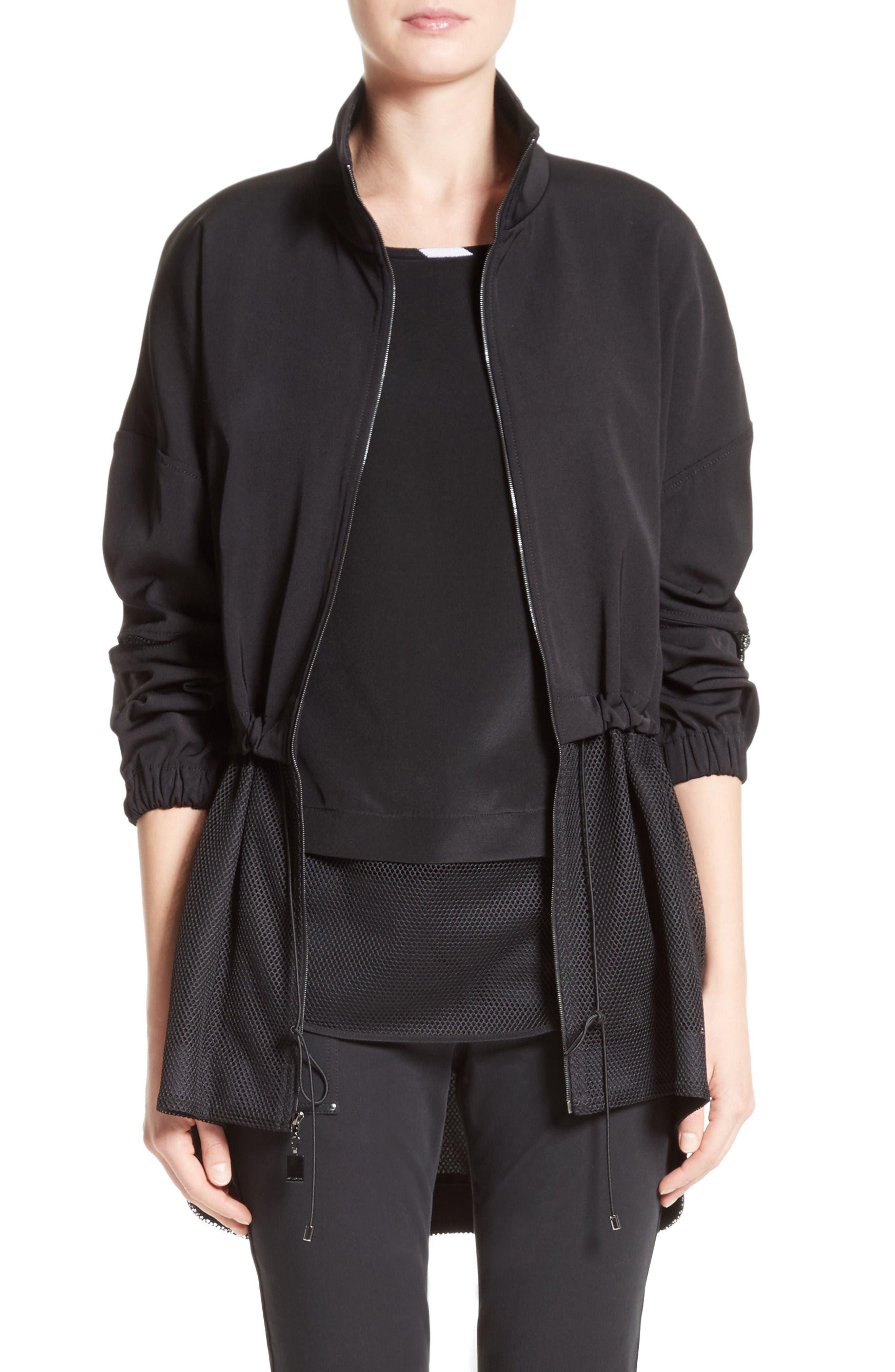 St. John Collection Stretch Tech Twill Mesh Anorak