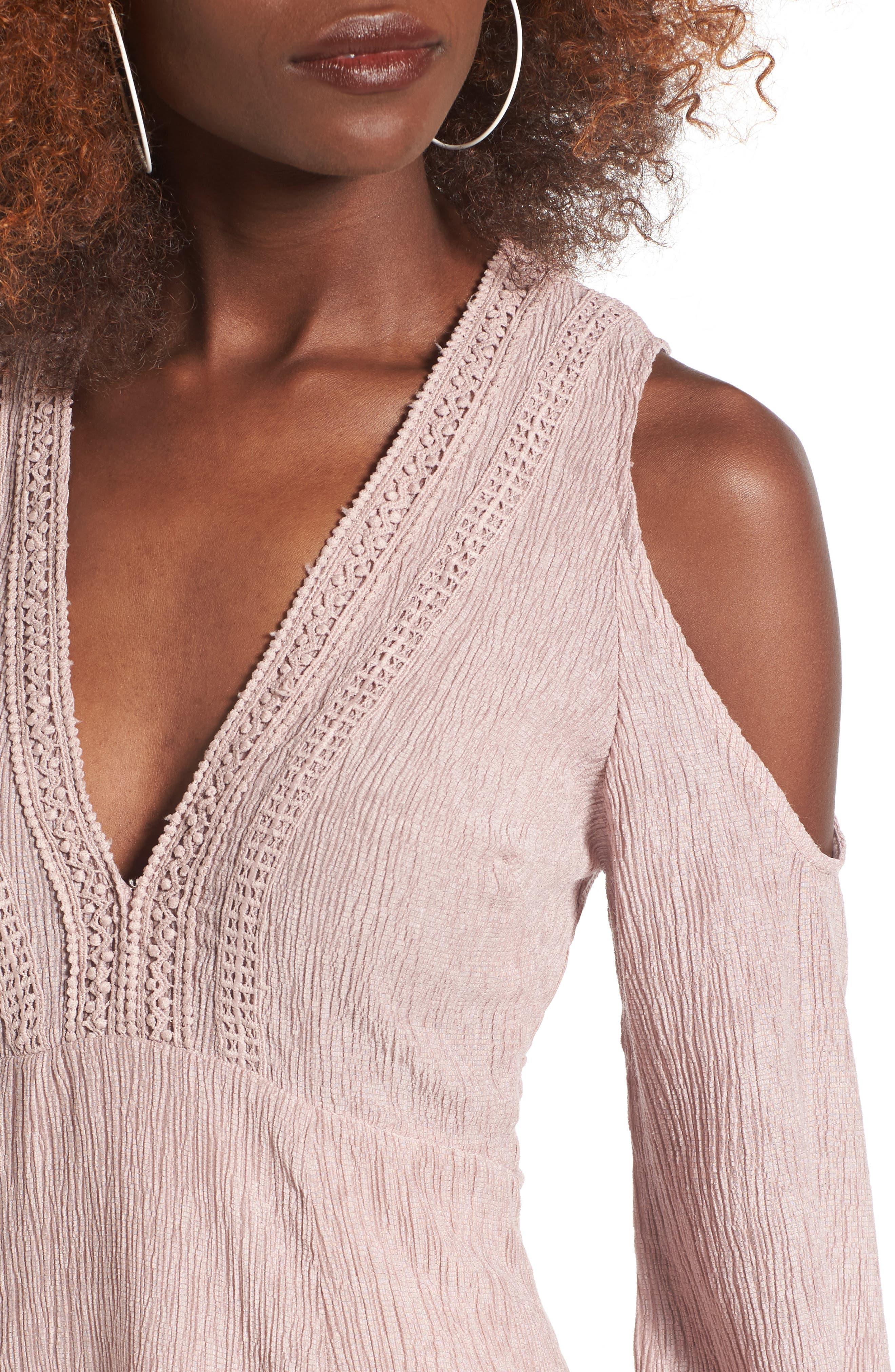Alternate Image 4  - Lush Cold Shoulder Dress
