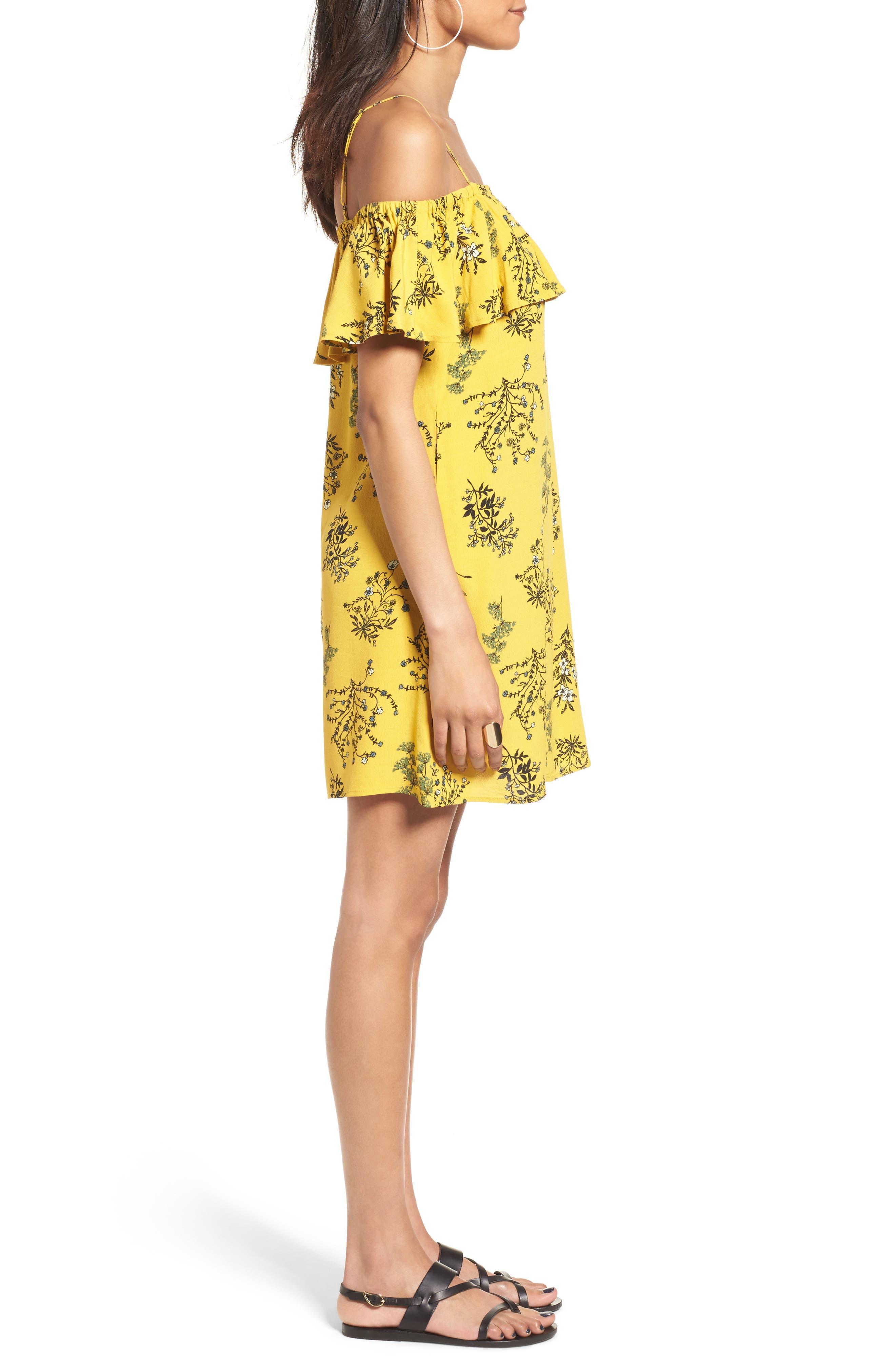 Alternate Image 3  - BP. Ruffle Cold Shoulder Dress