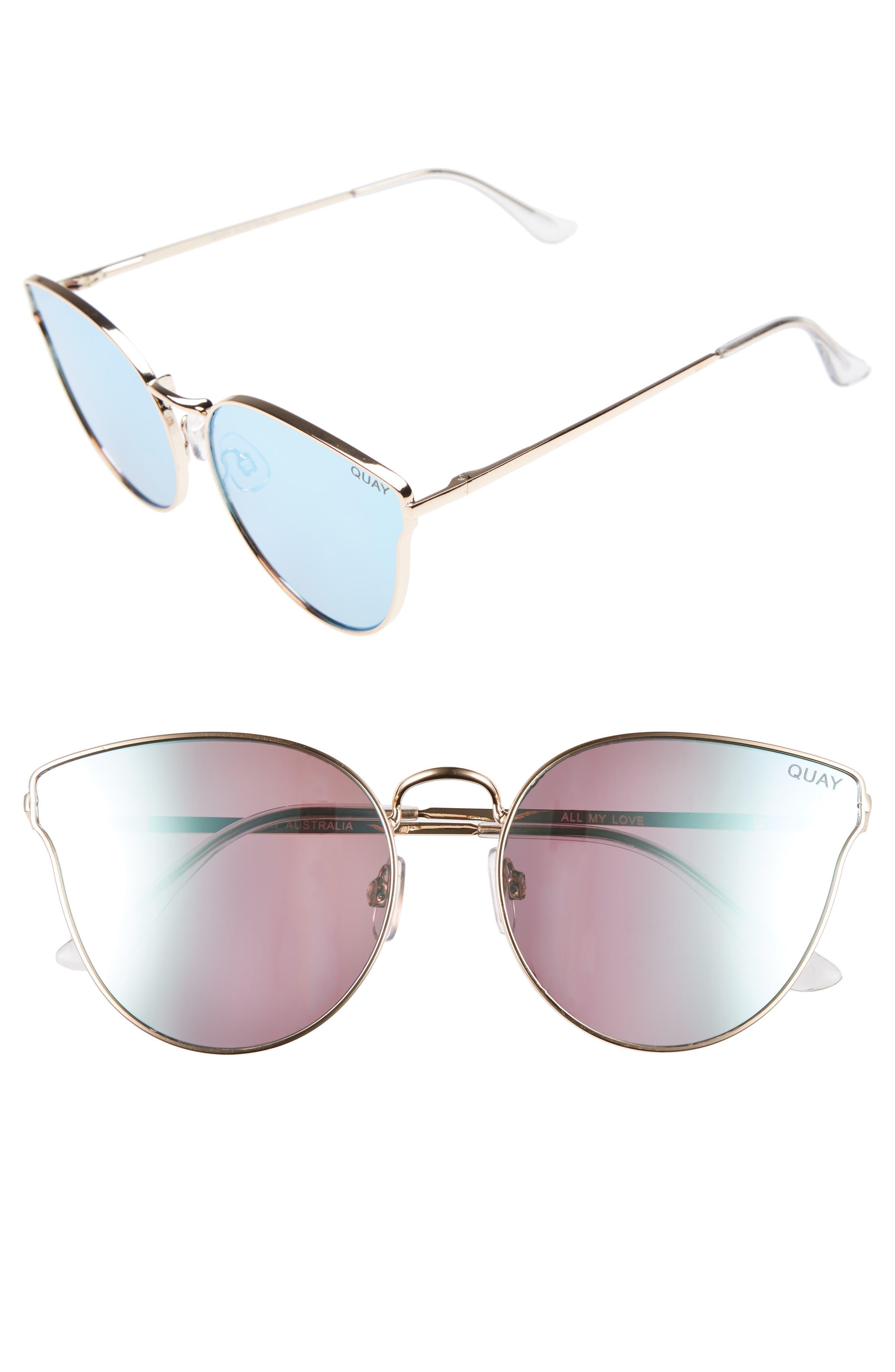 Main Image - Quay Australia 'All My Love' 60mm Retro Sunglasses