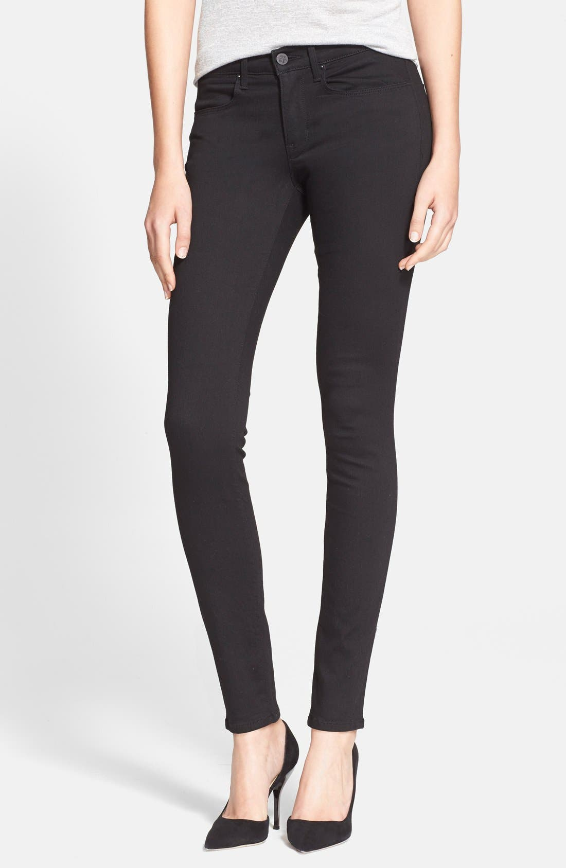 Alternate Image 1 Selected - AYR 'The Skinny' Skinny Jeans (Jet Black)