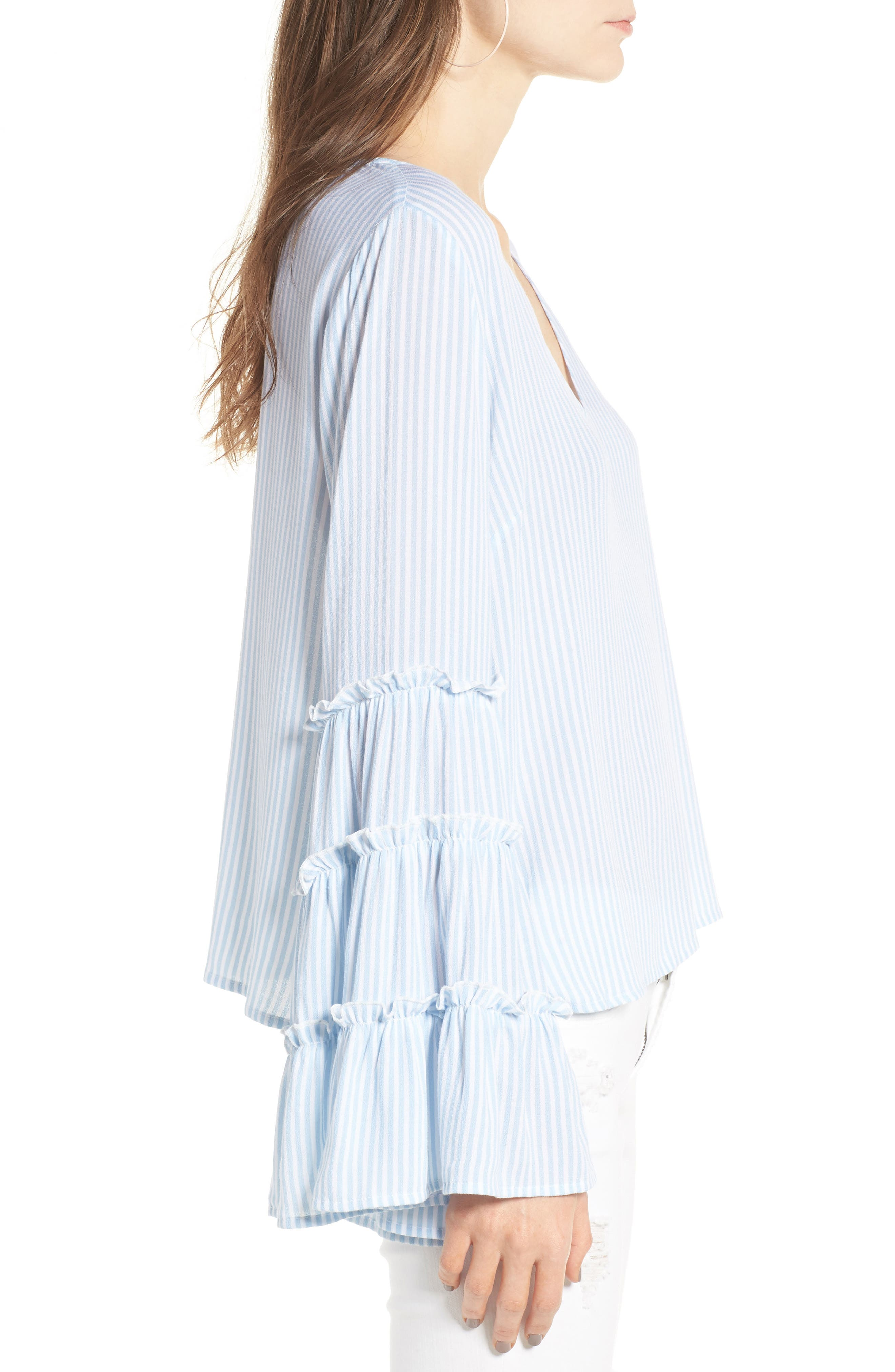 Alternate Image 3  - BP. Stripe Bell Sleeve Blouse