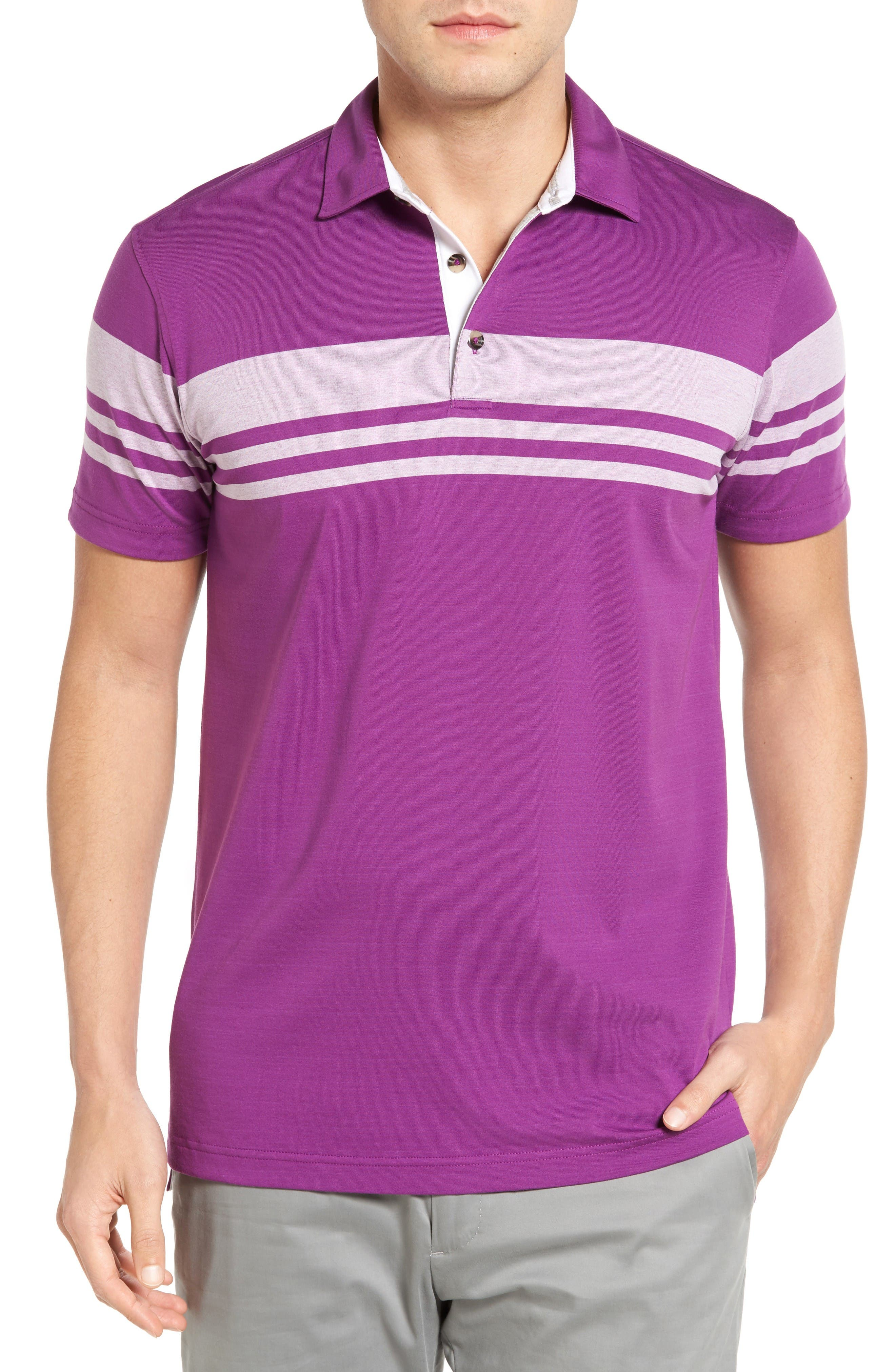 Bobby Jones Trio Stripe Jersey Golf Polo