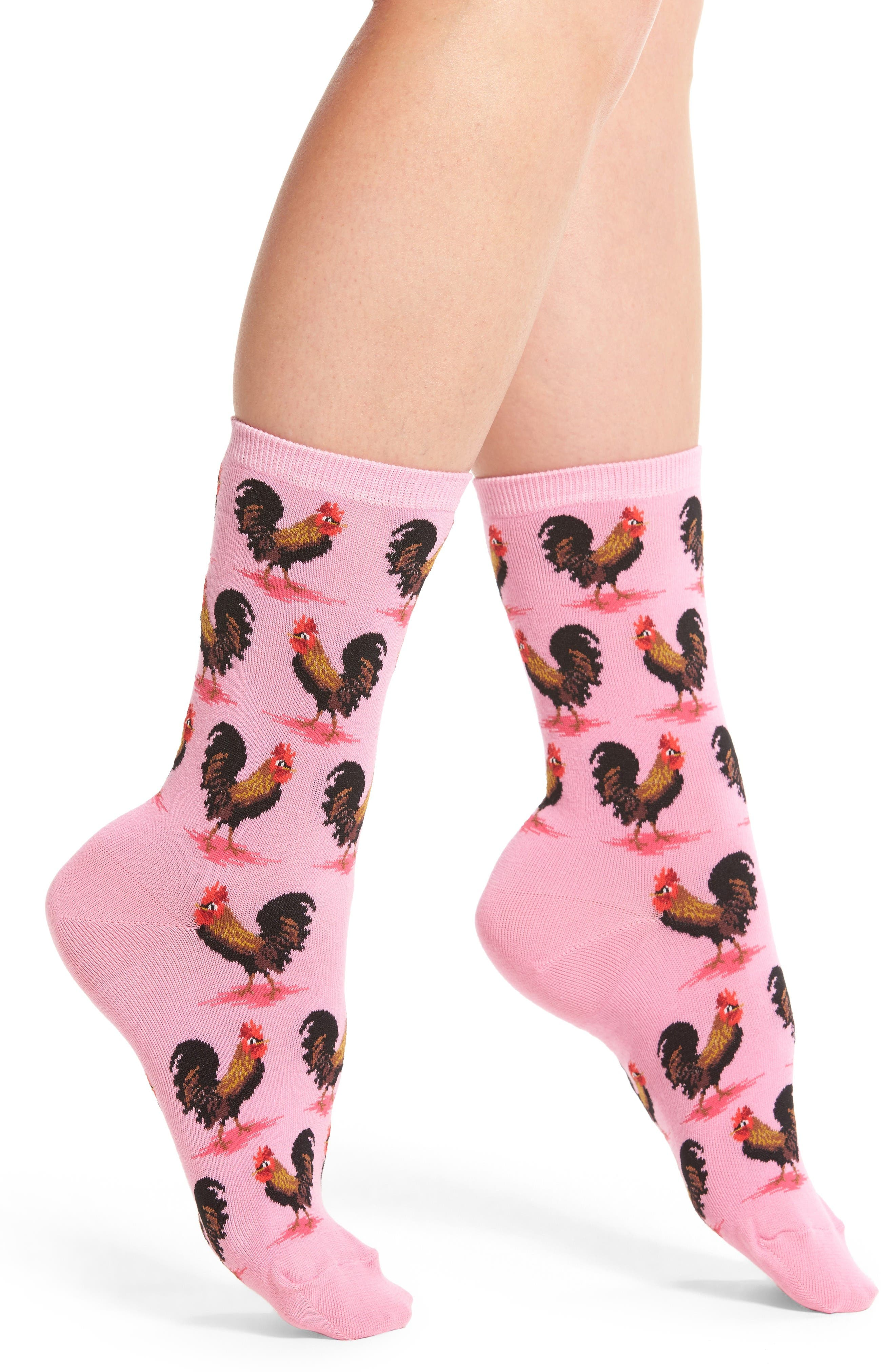 Hot Sox Rooster Crew Socks (3 for $15)