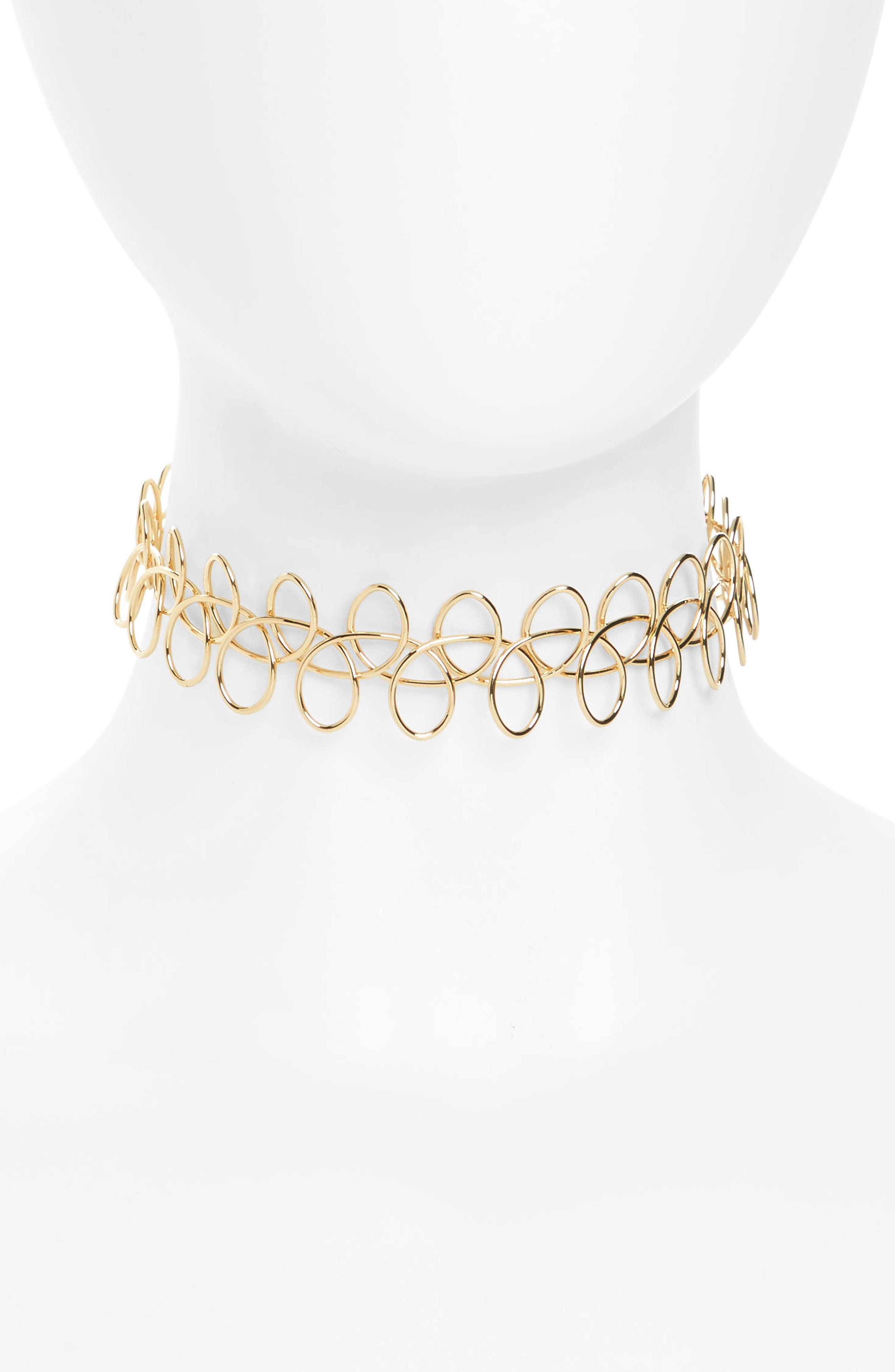 Main Image - Topshop Metal Tattoo Choker