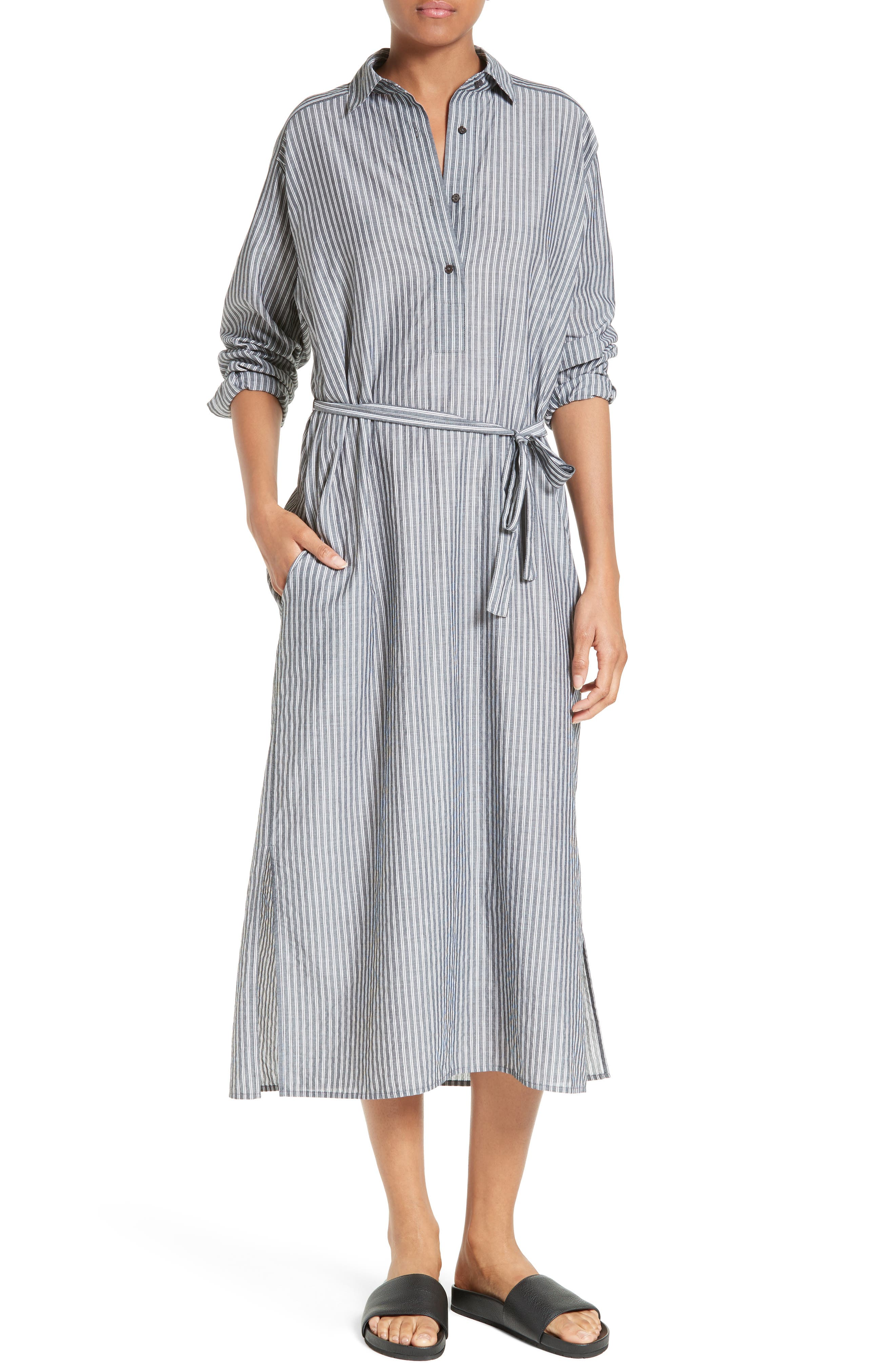 Vince Stripe Shirtdress