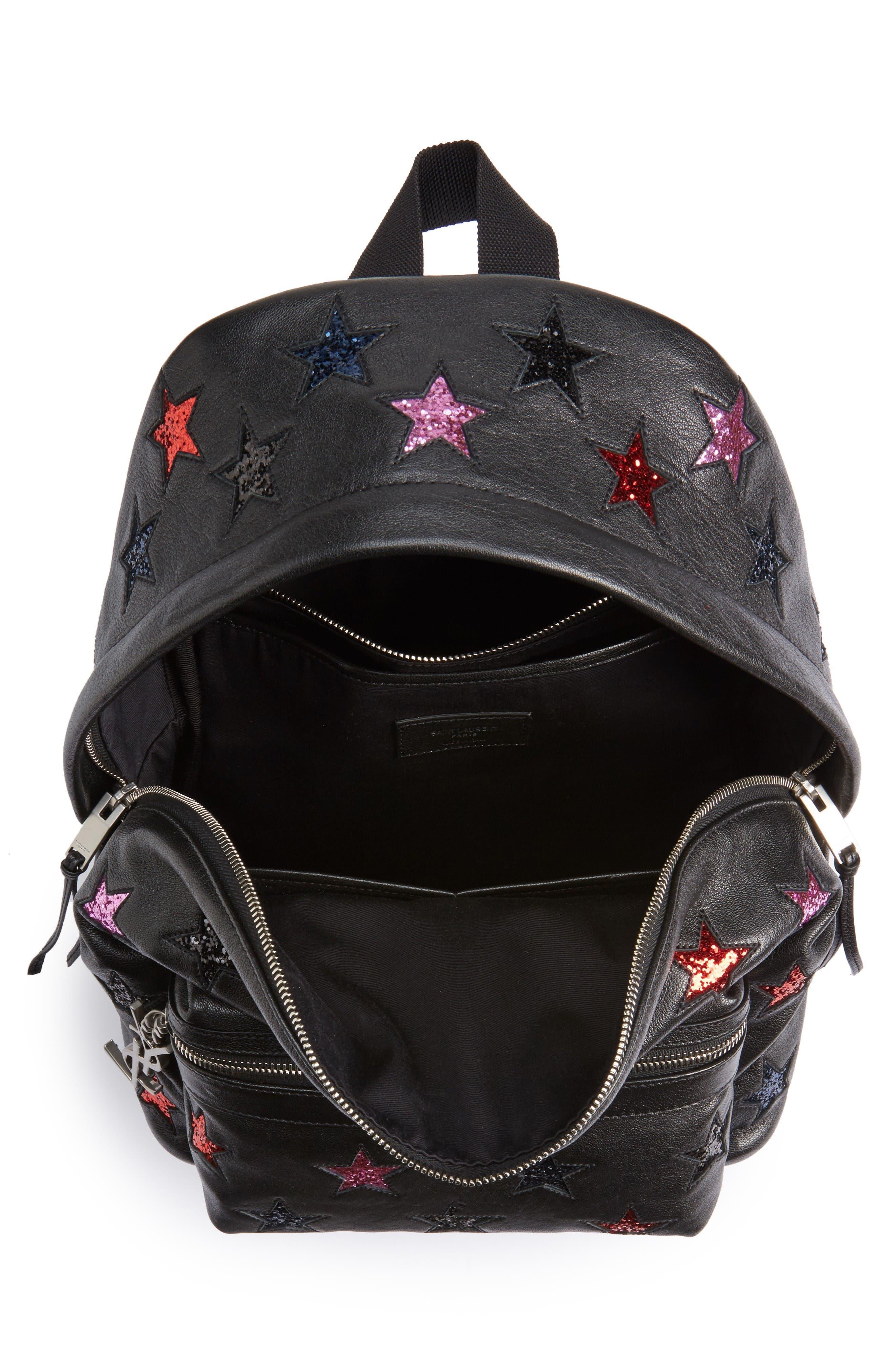Alternate Image 4  - Saint Laurent Mini City California Star Leather Backpack