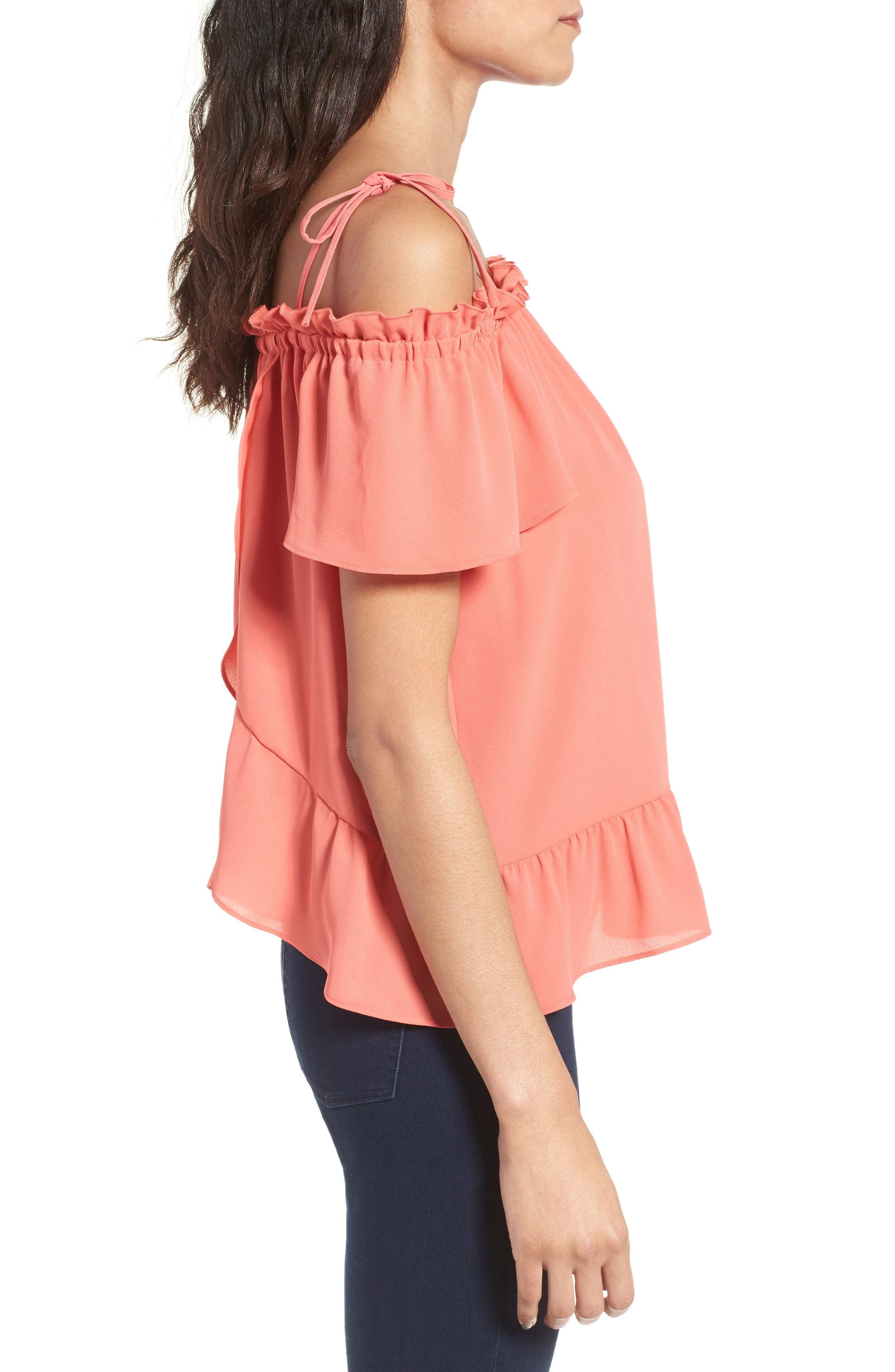 Alternate Image 3  - Chelsea28 Ruffle Off the Shoulder Top