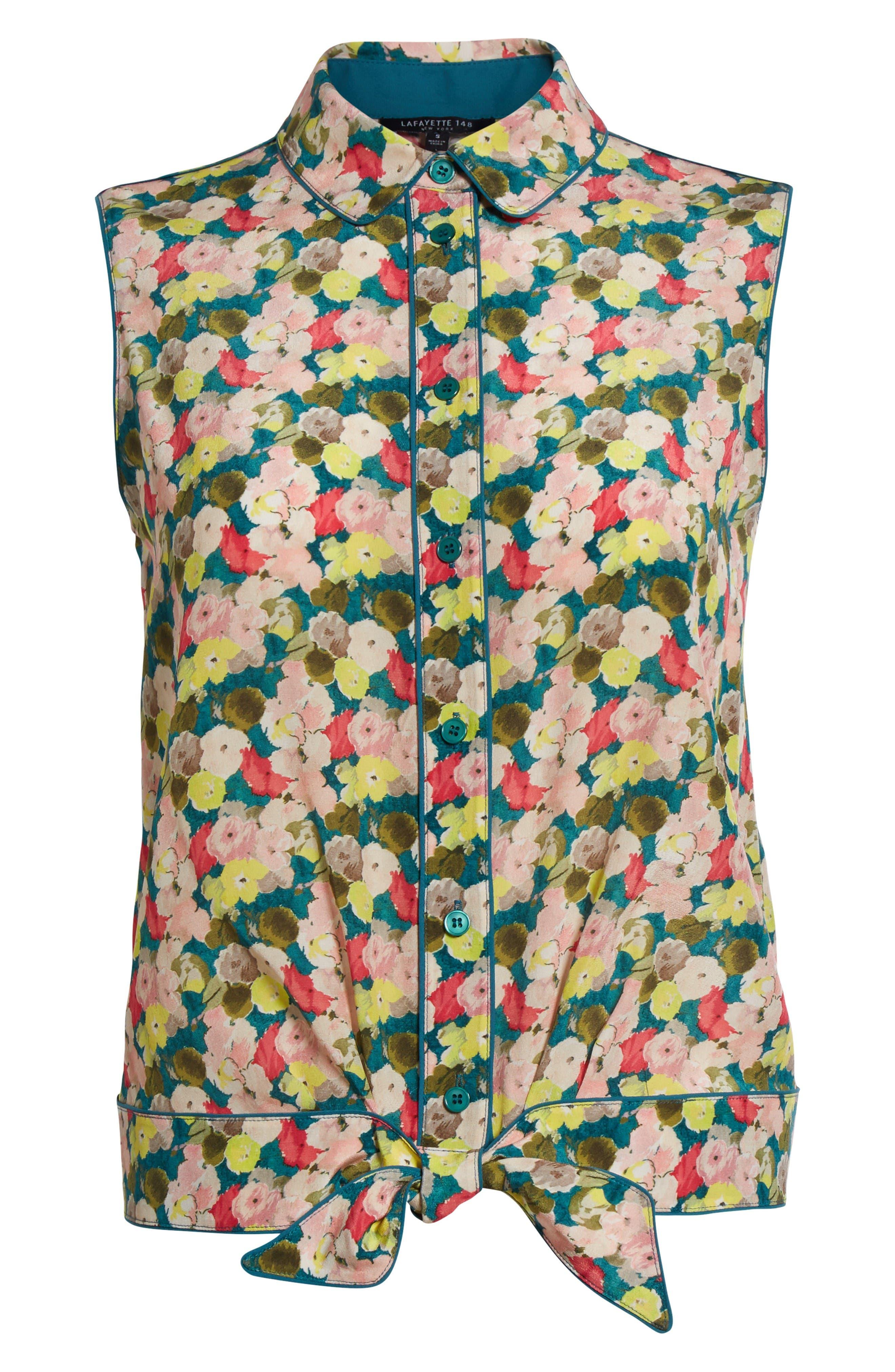 Alternate Image 4  - Lafayette 148 New York Tisha Floral Silk Blouse