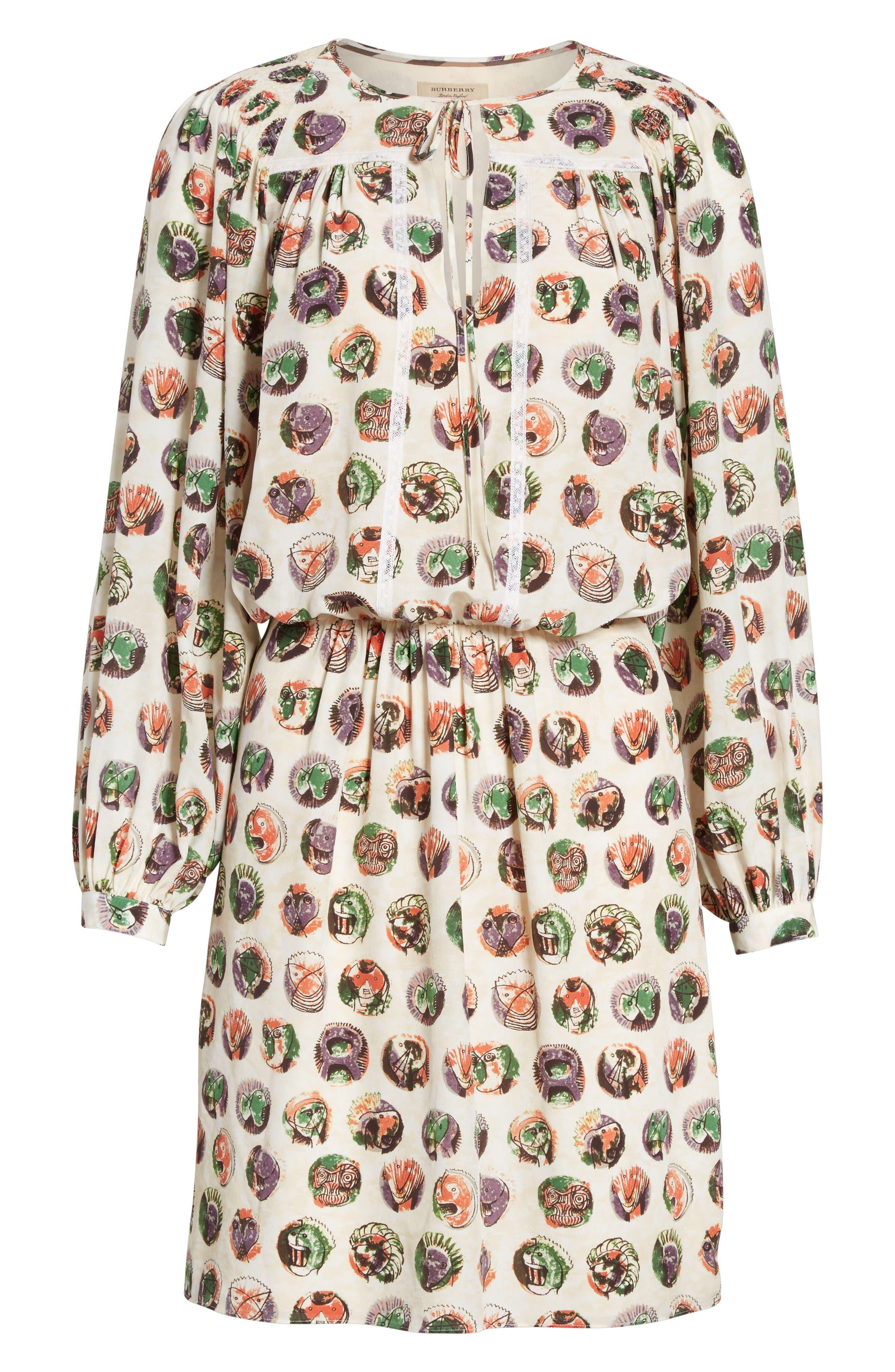 Alternate Image 4  - Burberry Verity Print Mulberry Silk Shirtdress