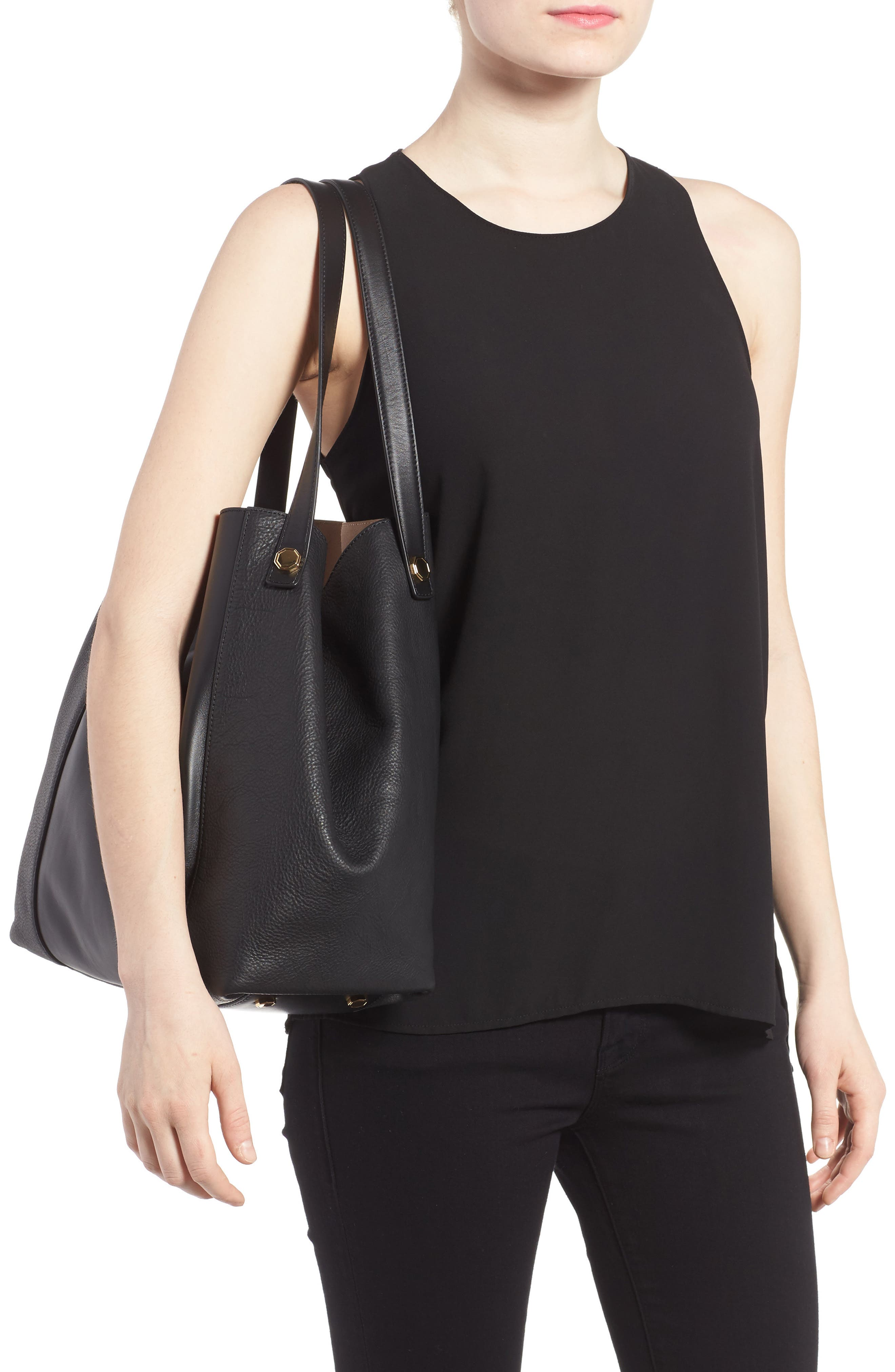 Alternate Image 2  - Louise et Cie Maree Leather Tote