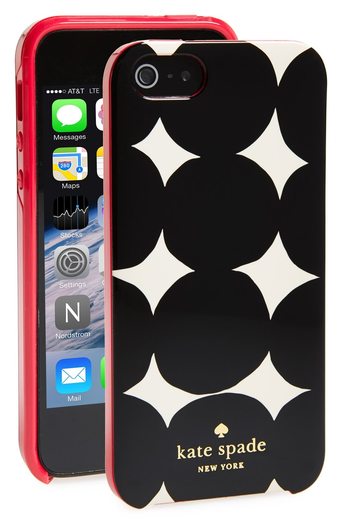Alternate Image 1 Selected - kate spade new york balloon dot print iPhone 5 & 5s hard shell case