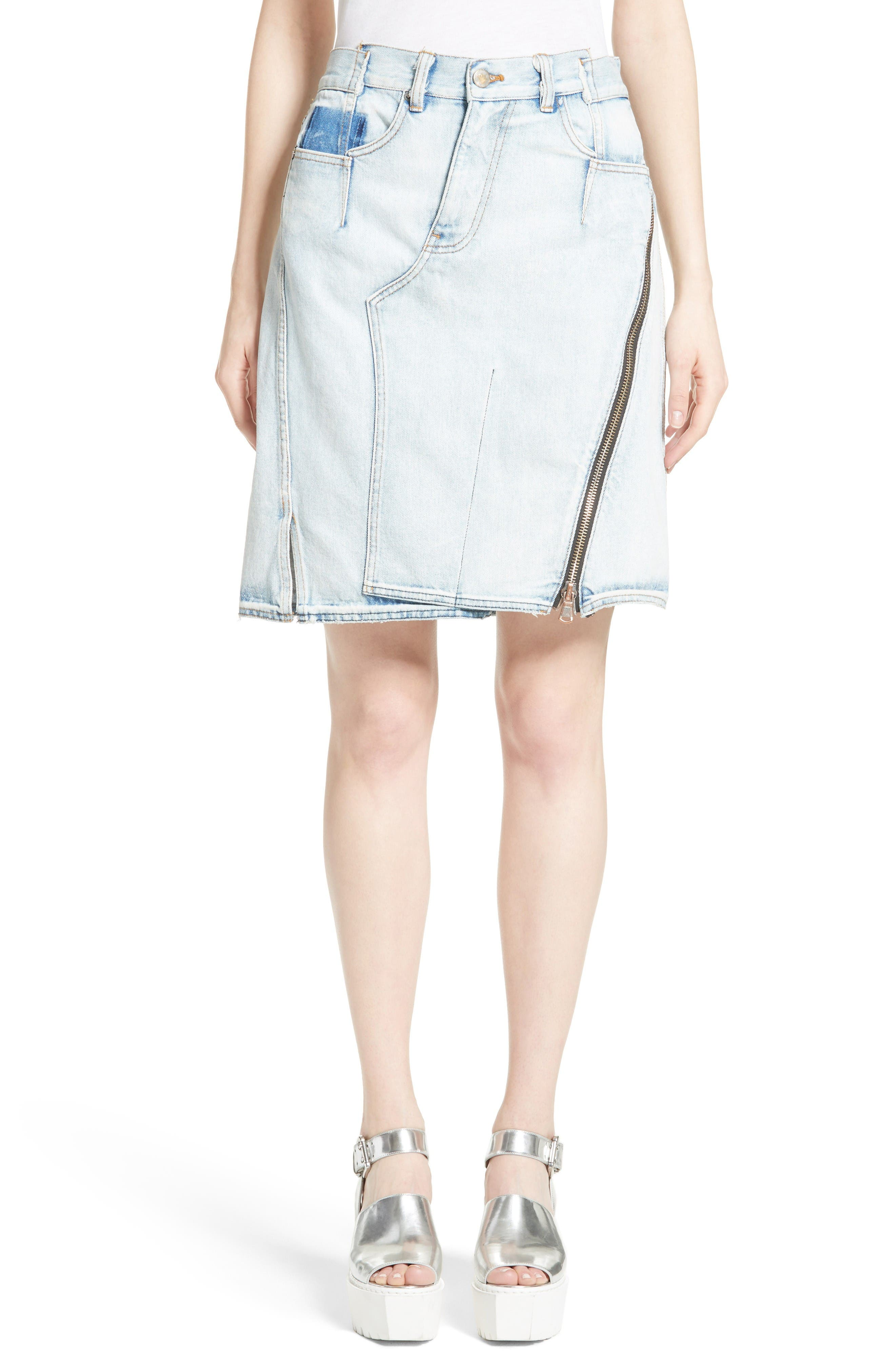 3.1 Phillip Lim Asymmetrical Denim Skirt (Indigo)