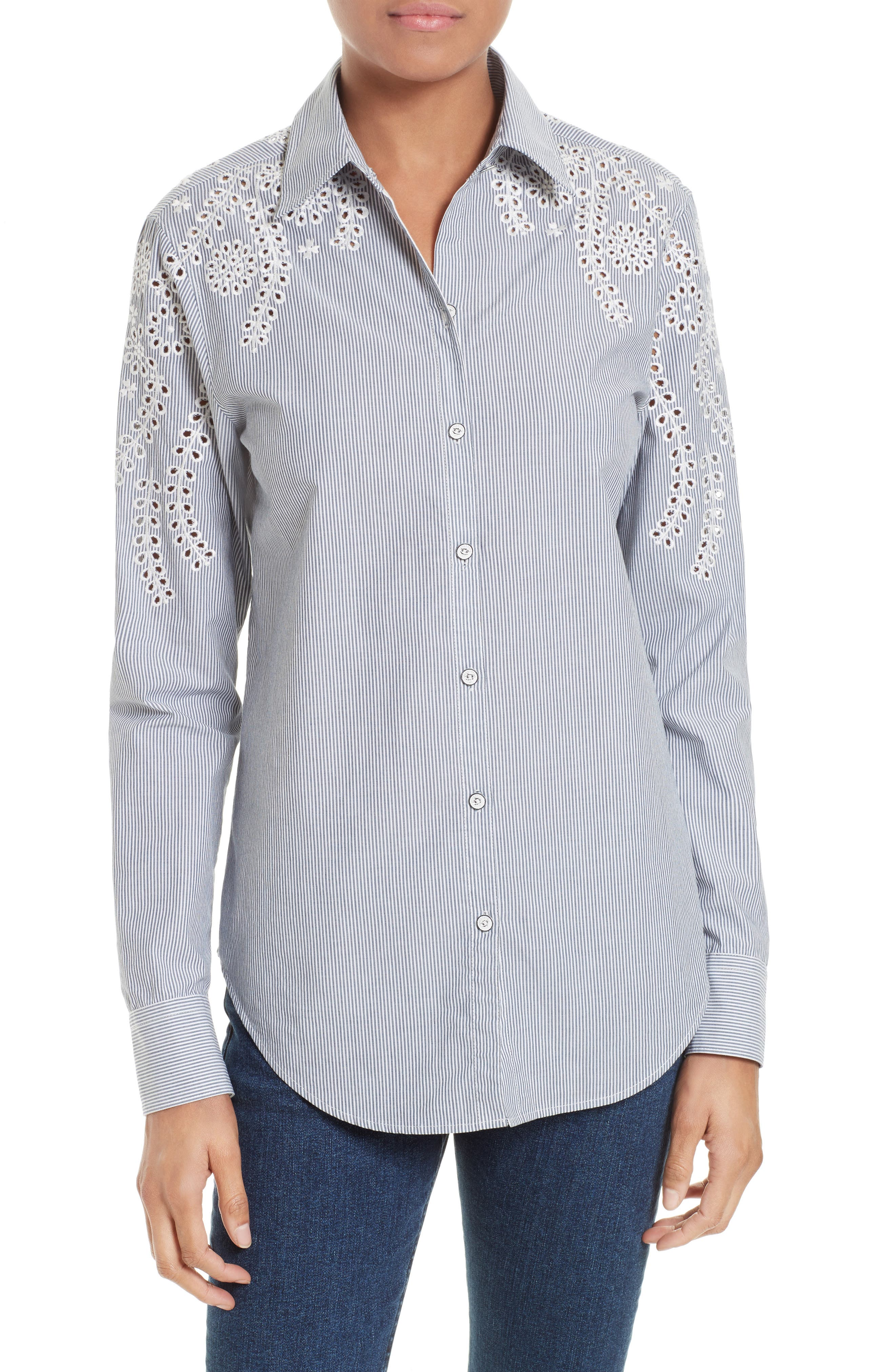 rag & bone/JEAN Sahara Eyelet Cotton Shirt