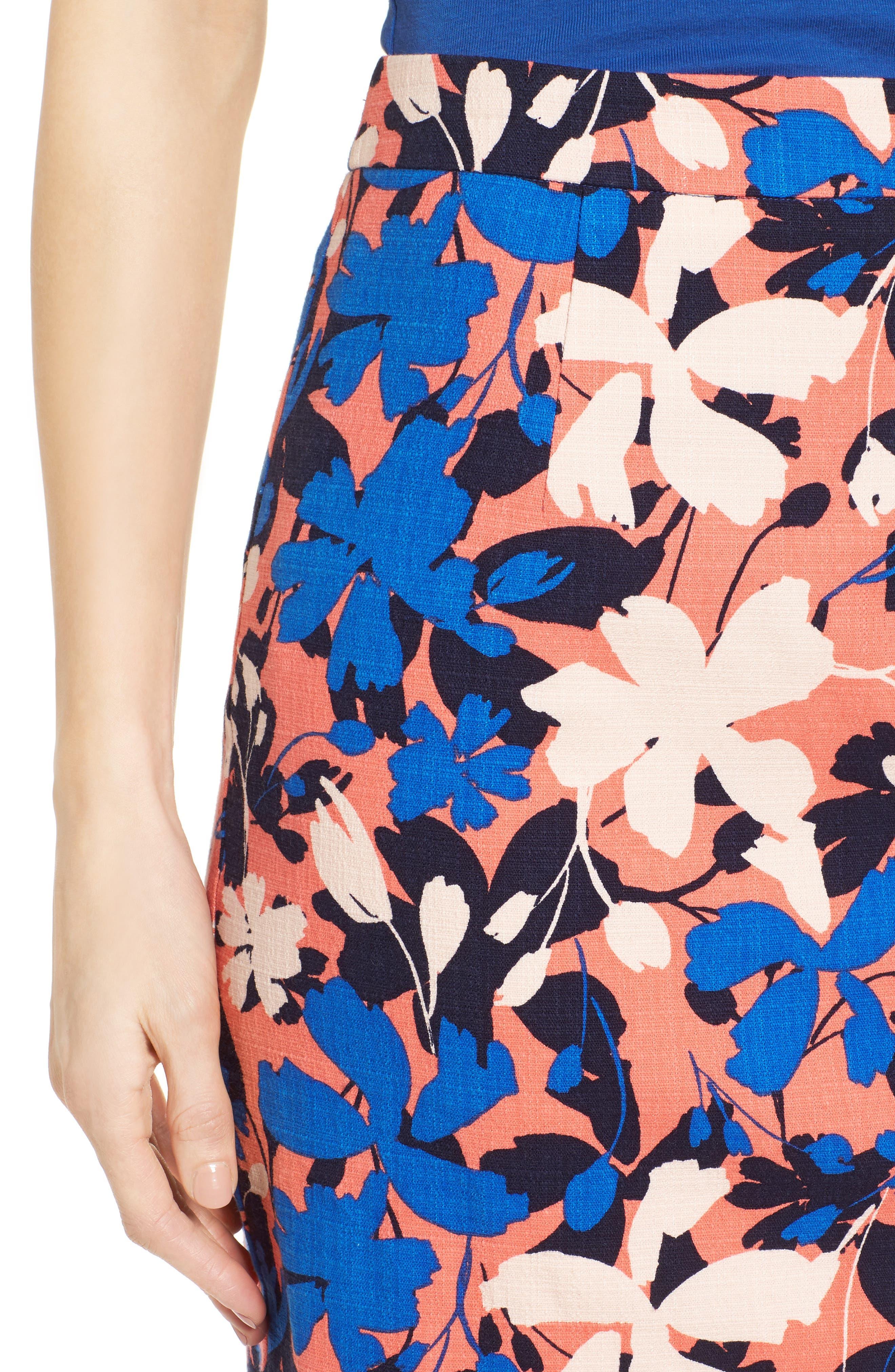 Alternate Image 5  - Halogen® Floral Print Pencil Skirt (Regular & Petite)