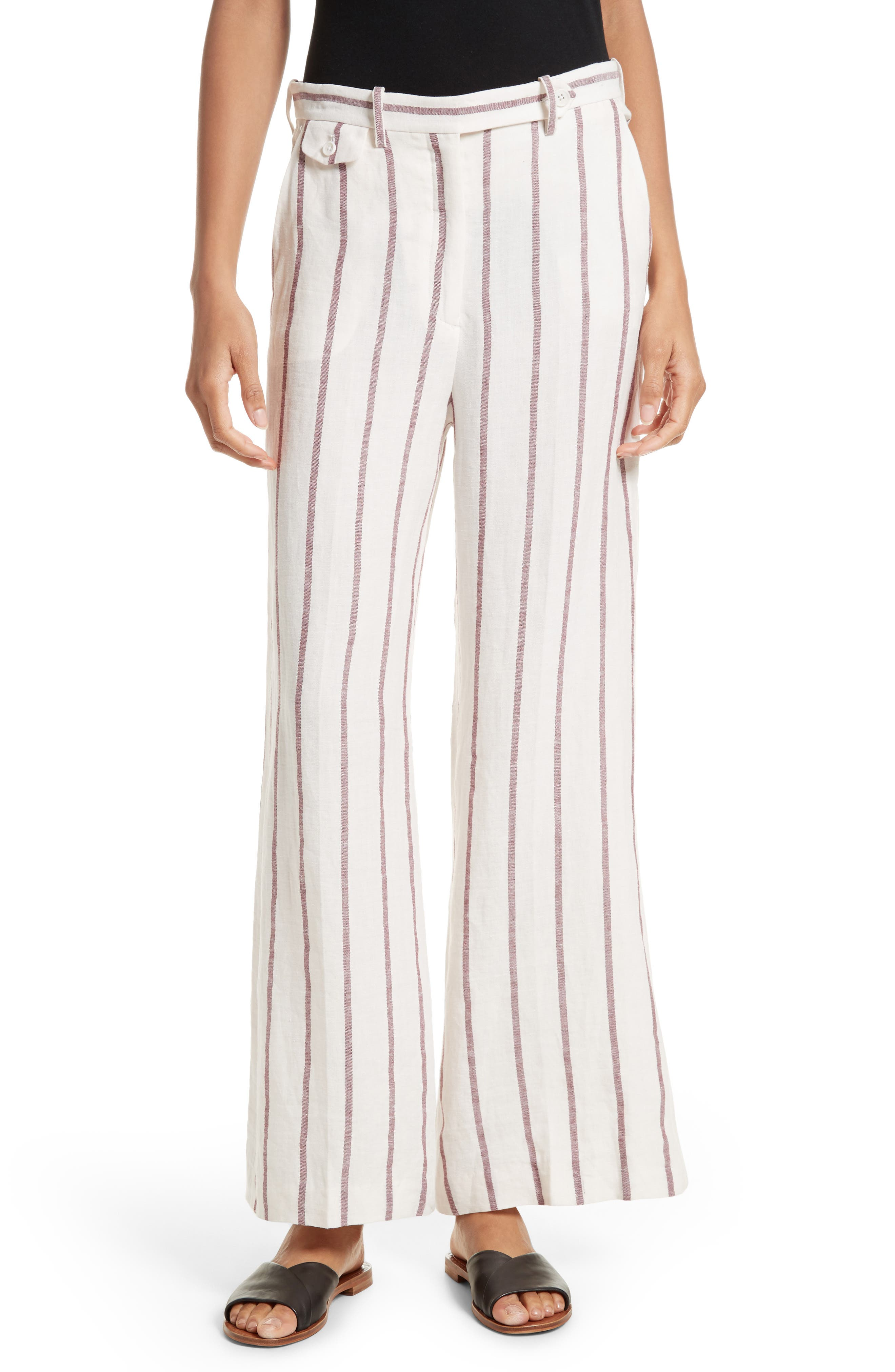 THEORY Nadeema Stripe Wide Leg Pants
