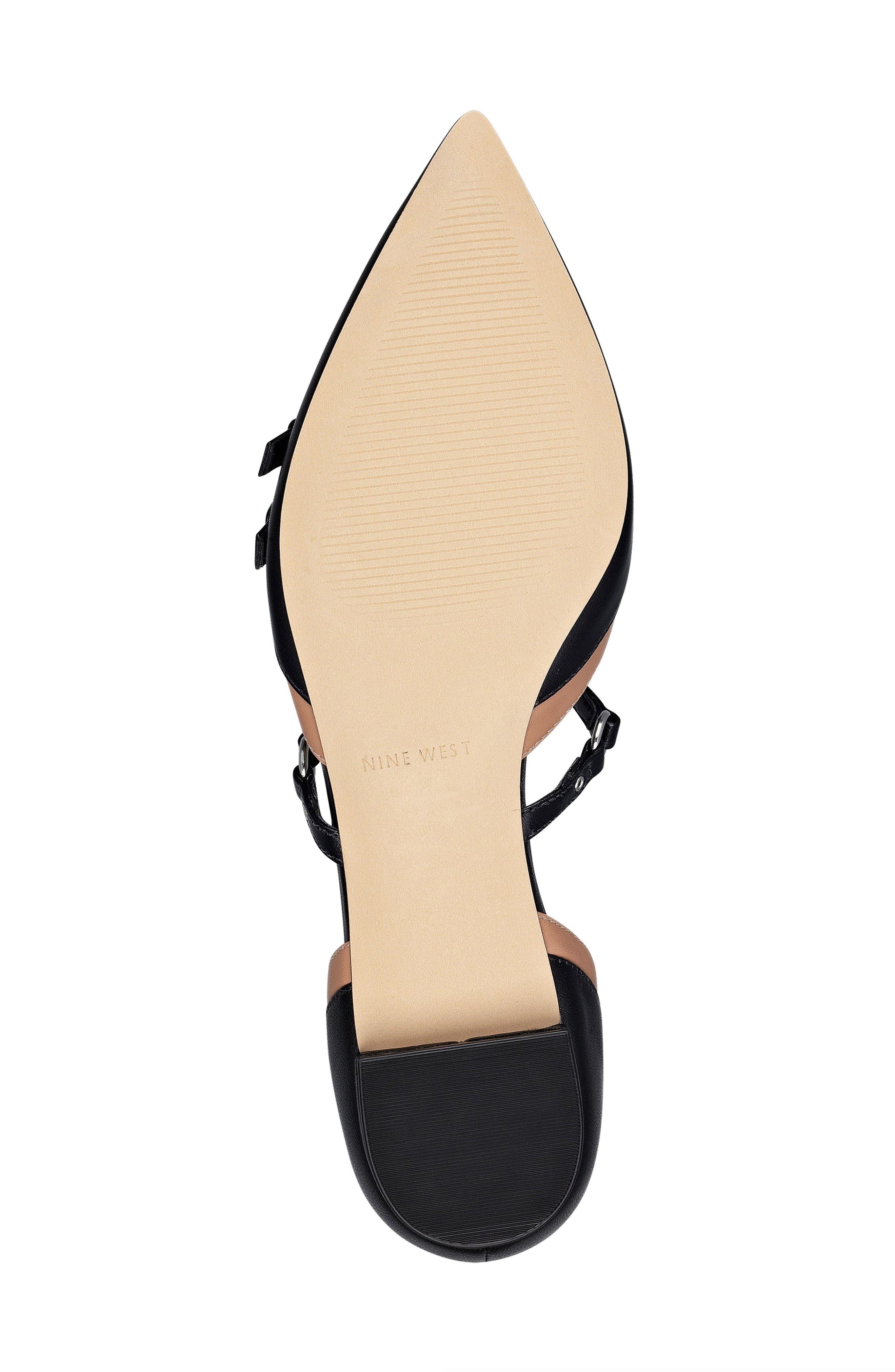 Alternate Image 4  - Nine West Aweso Pointy Toe Flat (Women)
