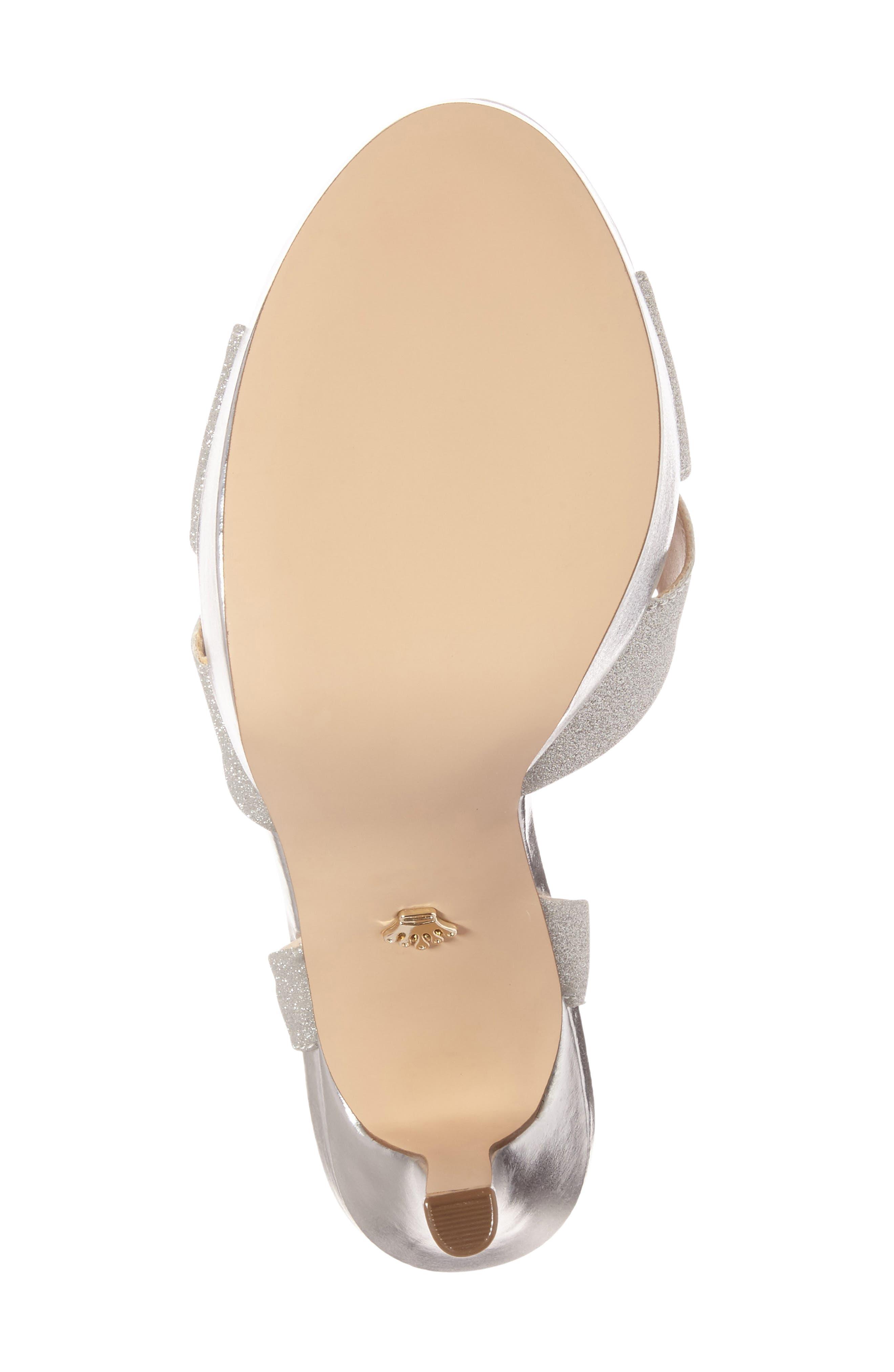 Alternate Image 4  - Nina Shara Shimmery Platform Sandal (Women)