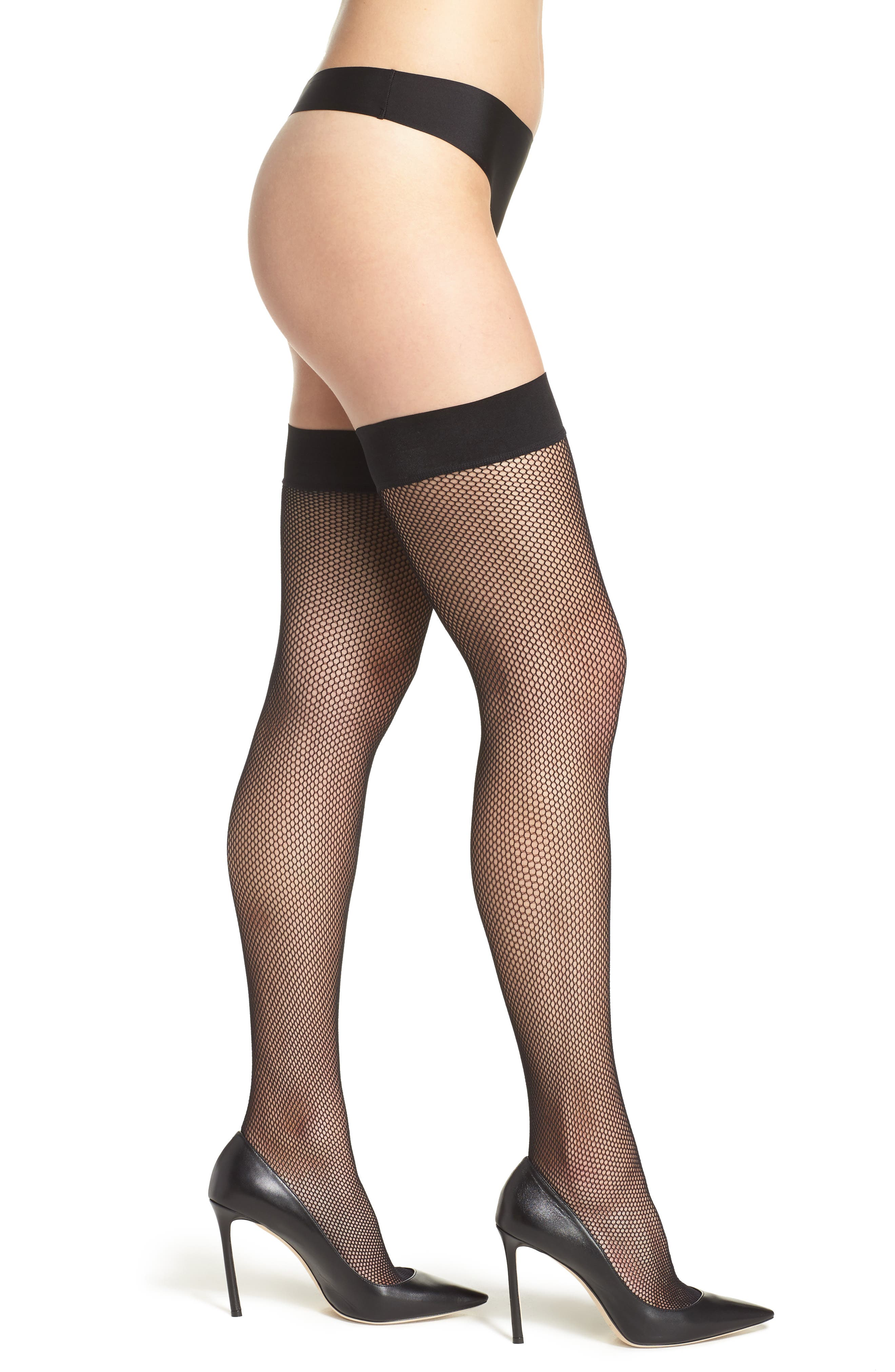 DKNY Fishnet Stay-Up Stockings