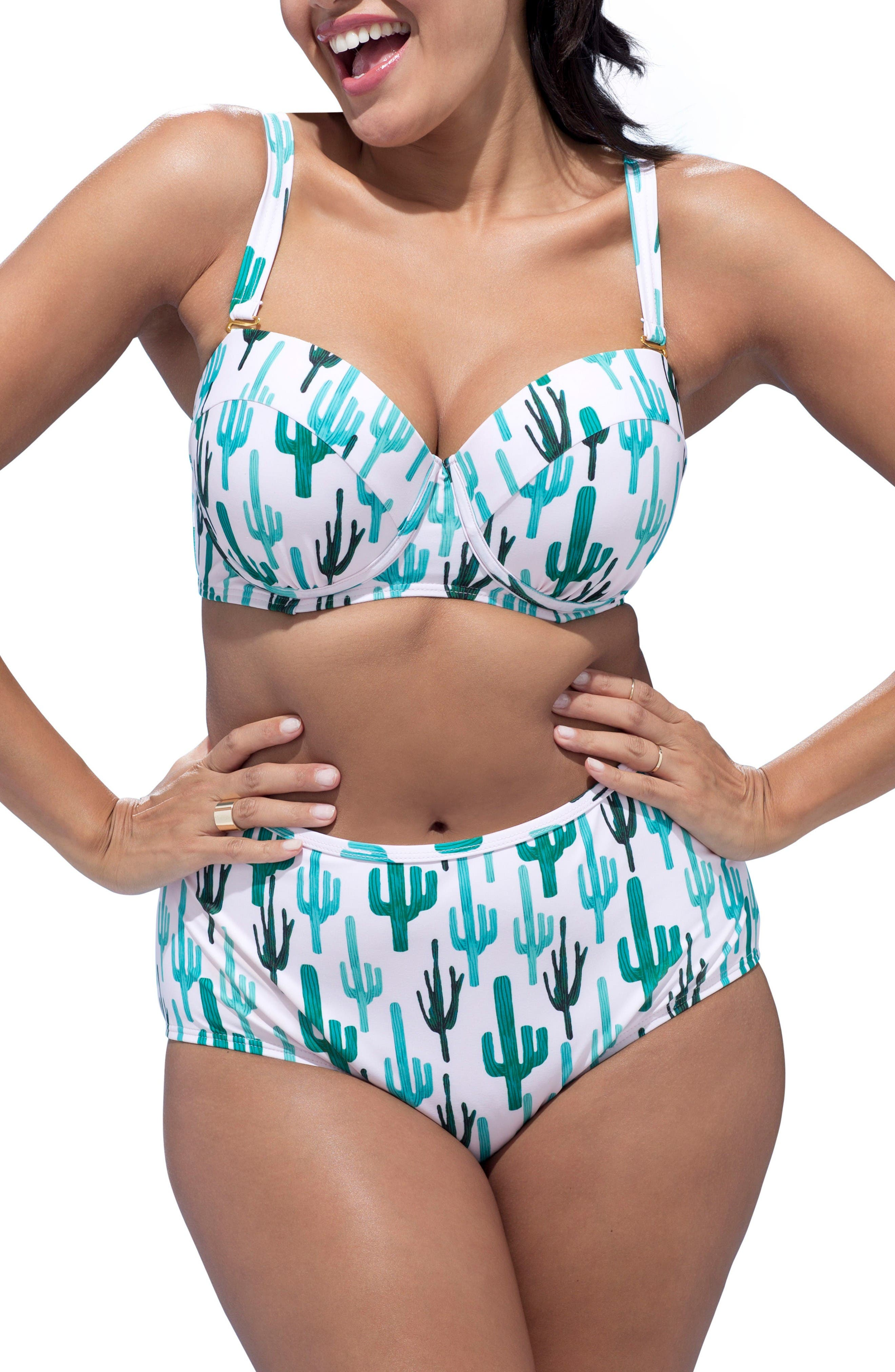 Alternate Image 3  - GabiFresh Milestone High Waist Bikini Bottoms (Plus Size)