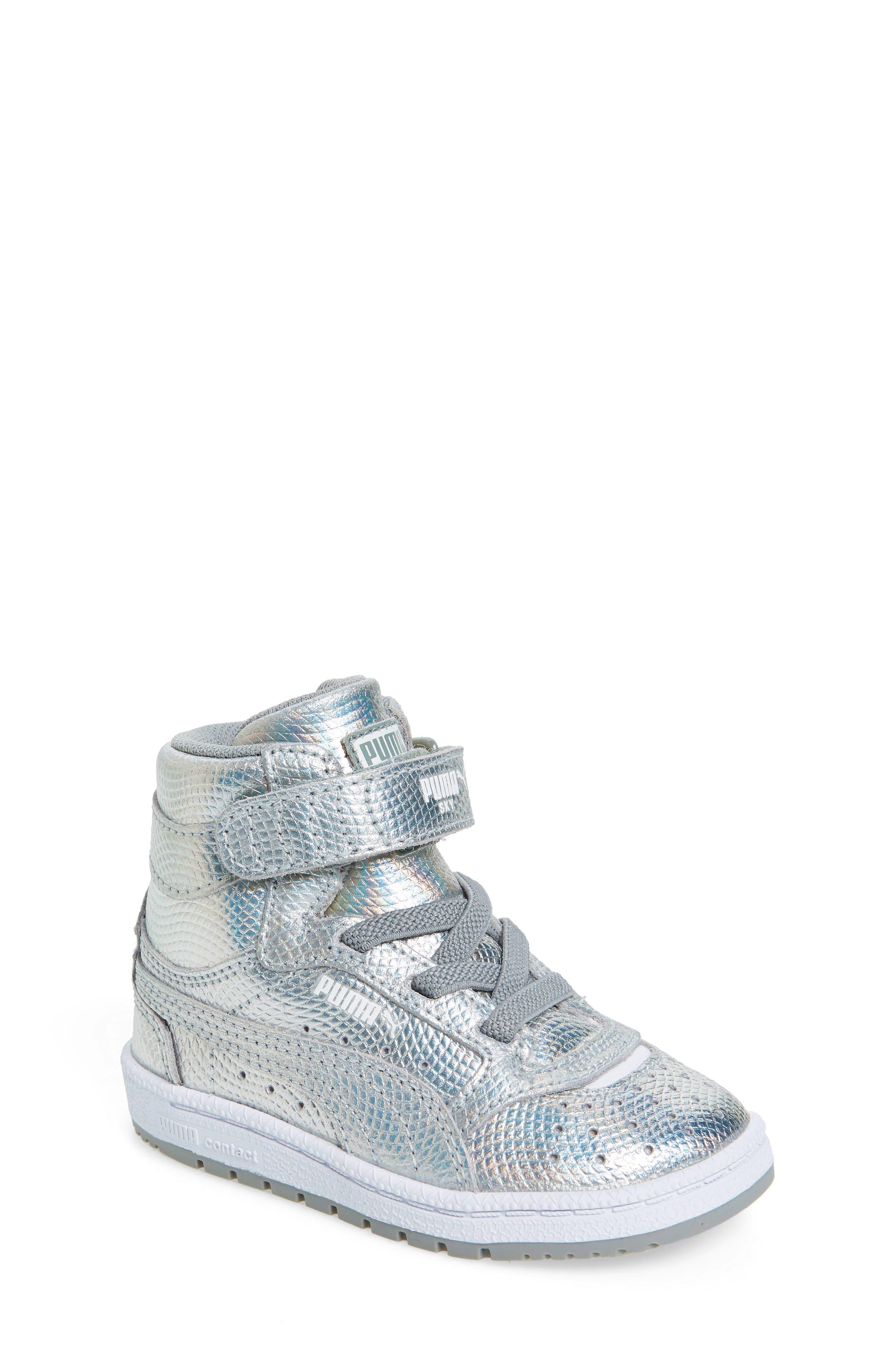 PUMA Sky II Hi Holo Iridescent Sneaker (Baby, Walker & Toddler)