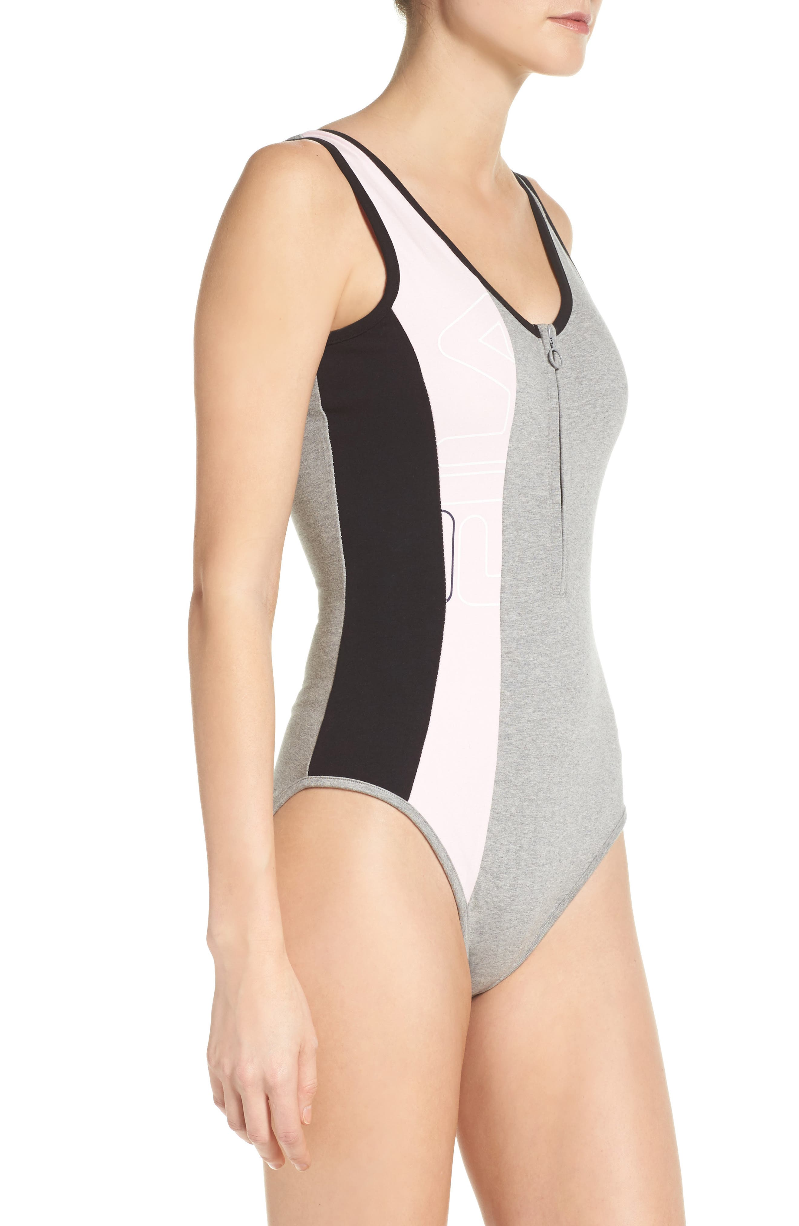 Alternate Image 3  - FILA Viviana Quarter Zip Bodysuit