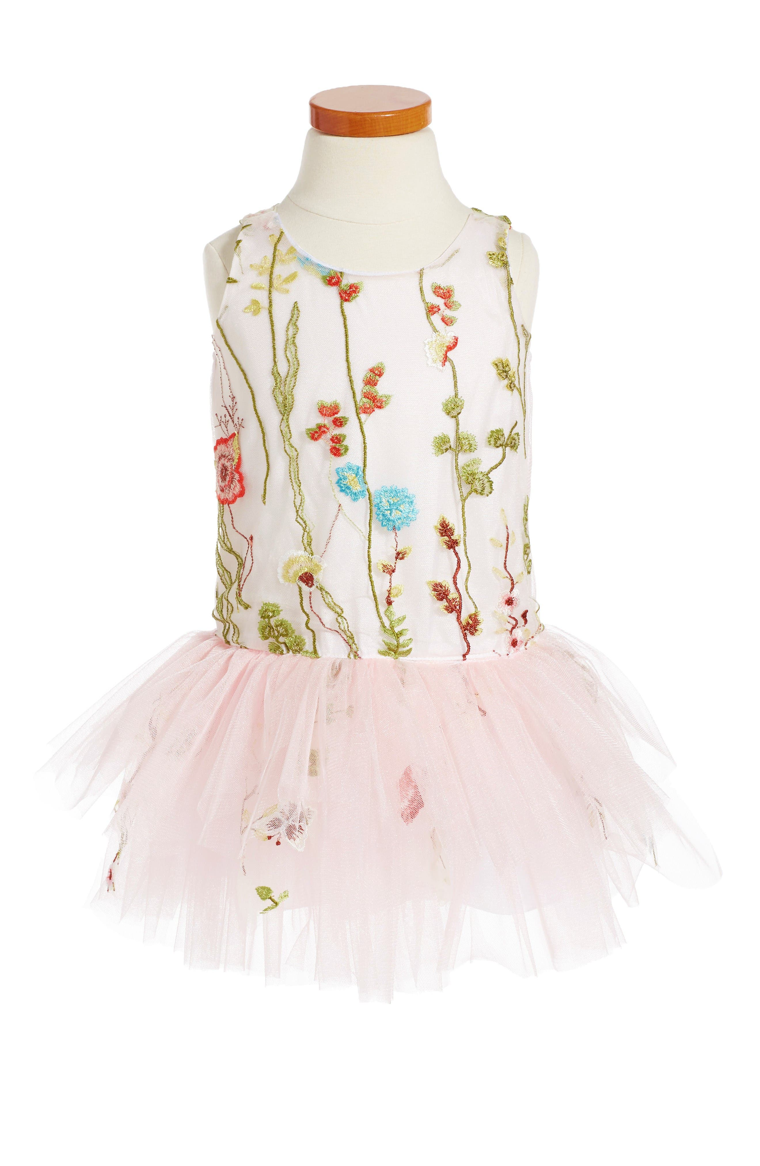 LE PINK Embroidered Tutu Dress