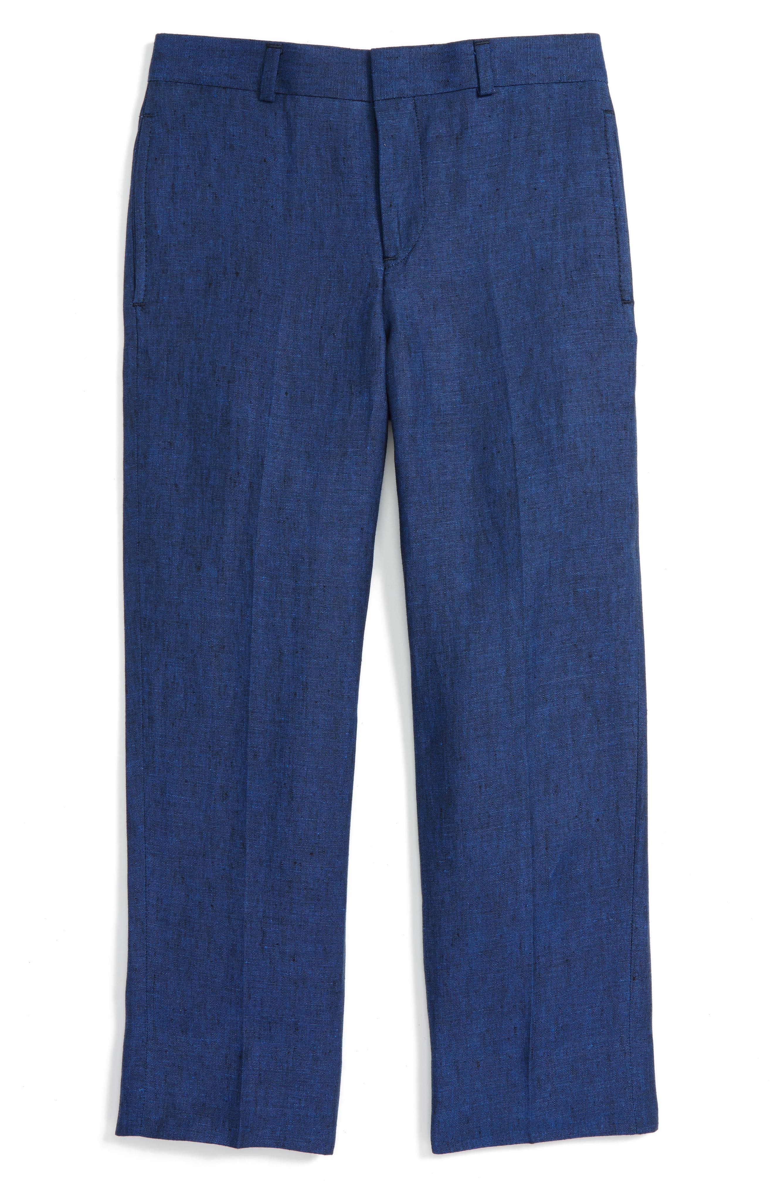 JB Jr Flat Front Linen Trousers (Big Boys)