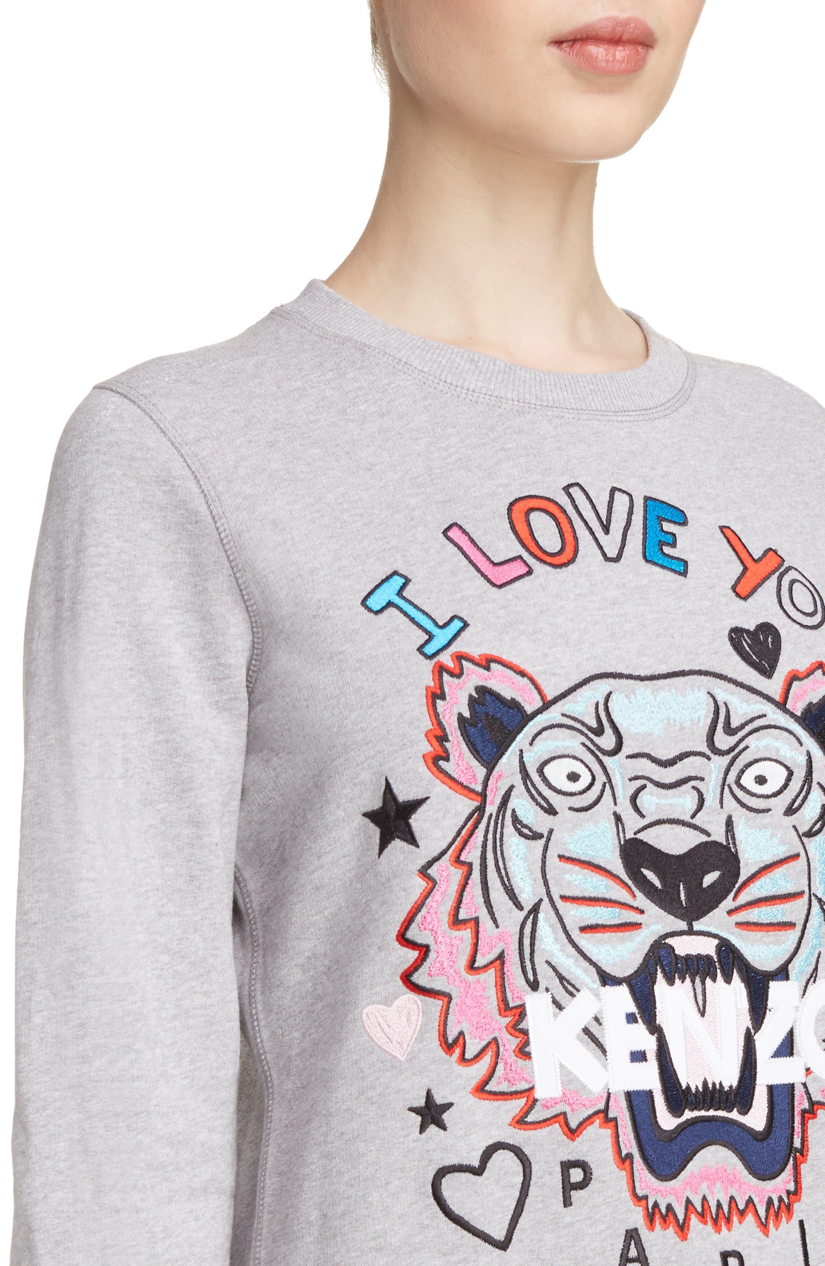 Alternate Image 5  - KENZO Tiger I Love You Sweatshirt