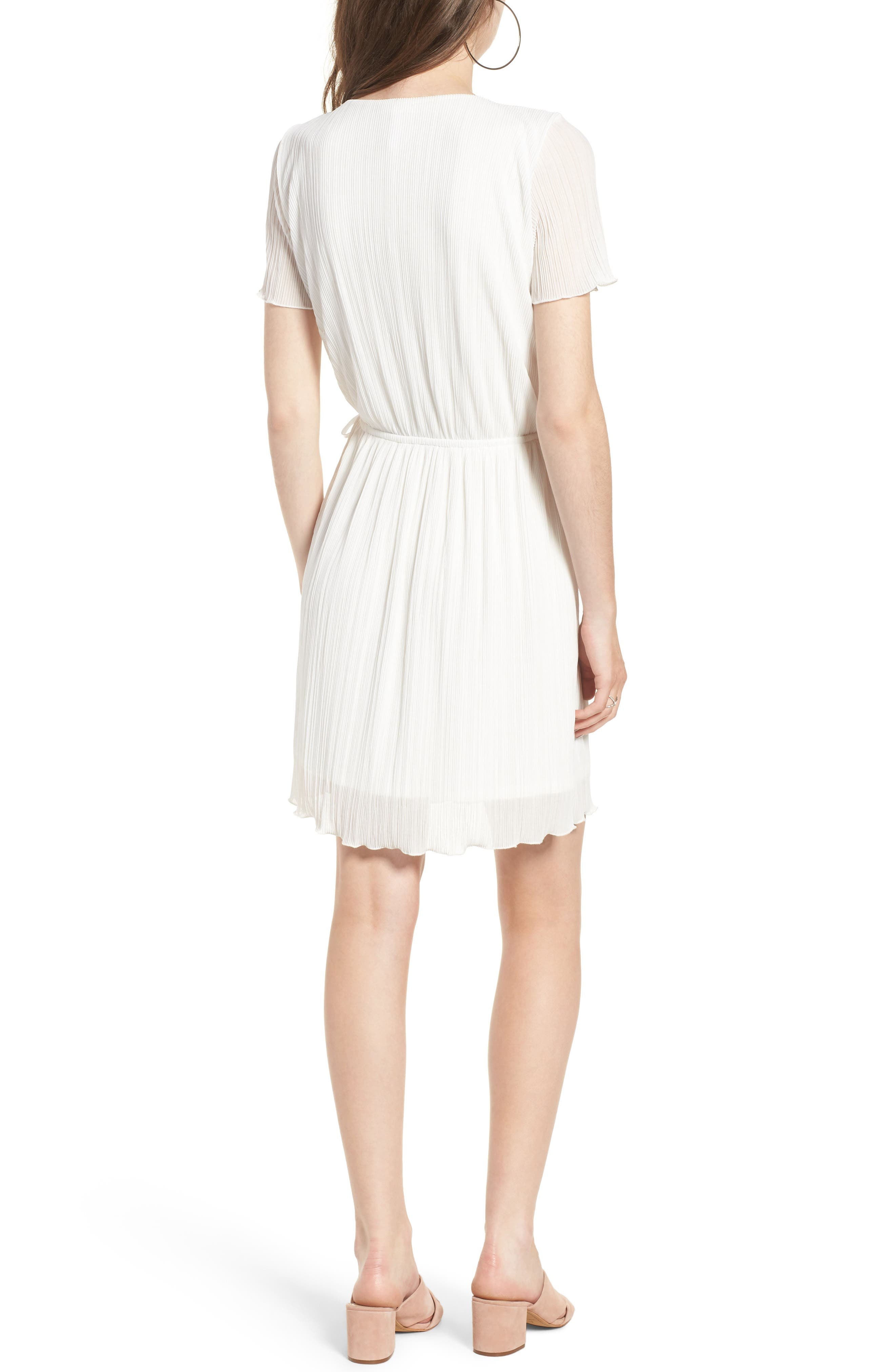 Alternate Image 2  - Leith Pleat Surplice Wrap Dress
