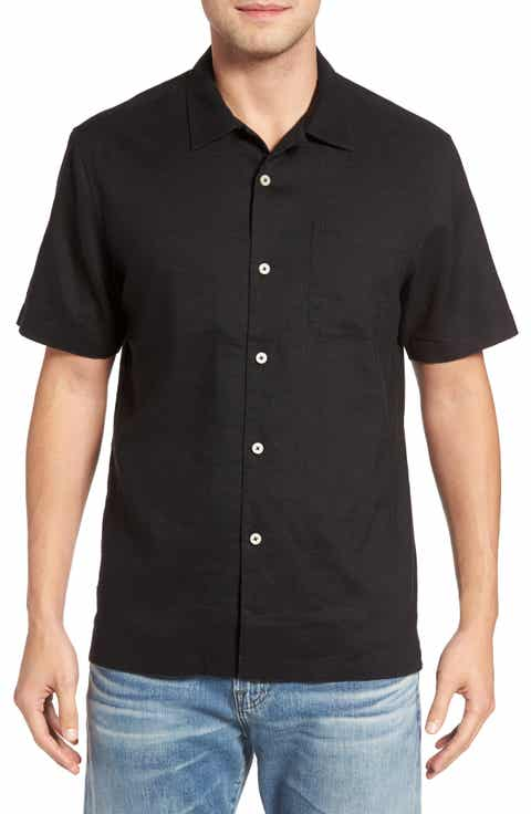 Tommy Bahama Monaco Tides Linen Blend Camp Shirt (Big   Tall)