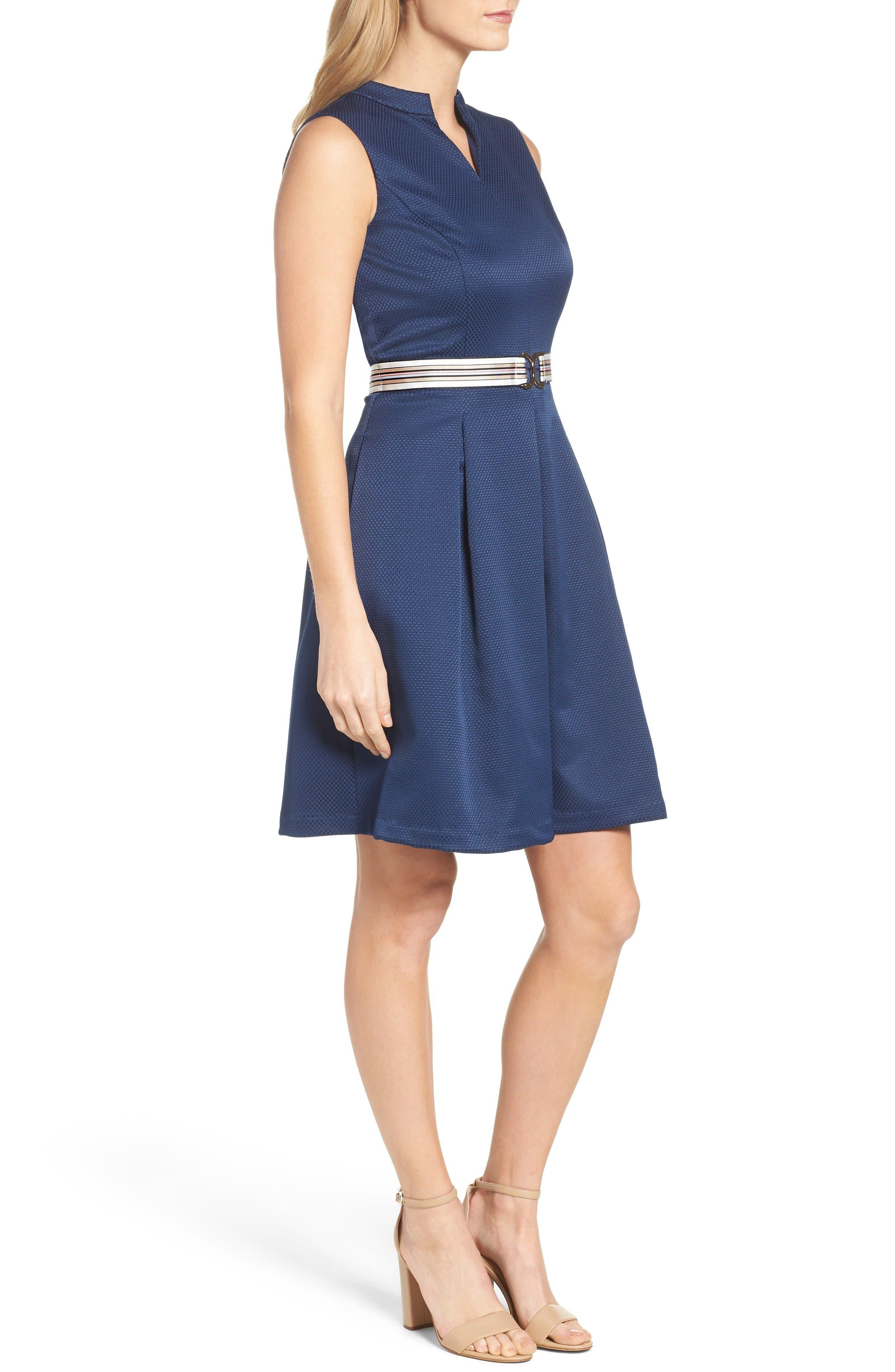 Alternate Image 3  - Ellen Tracy Belted Fit & Flare Dress