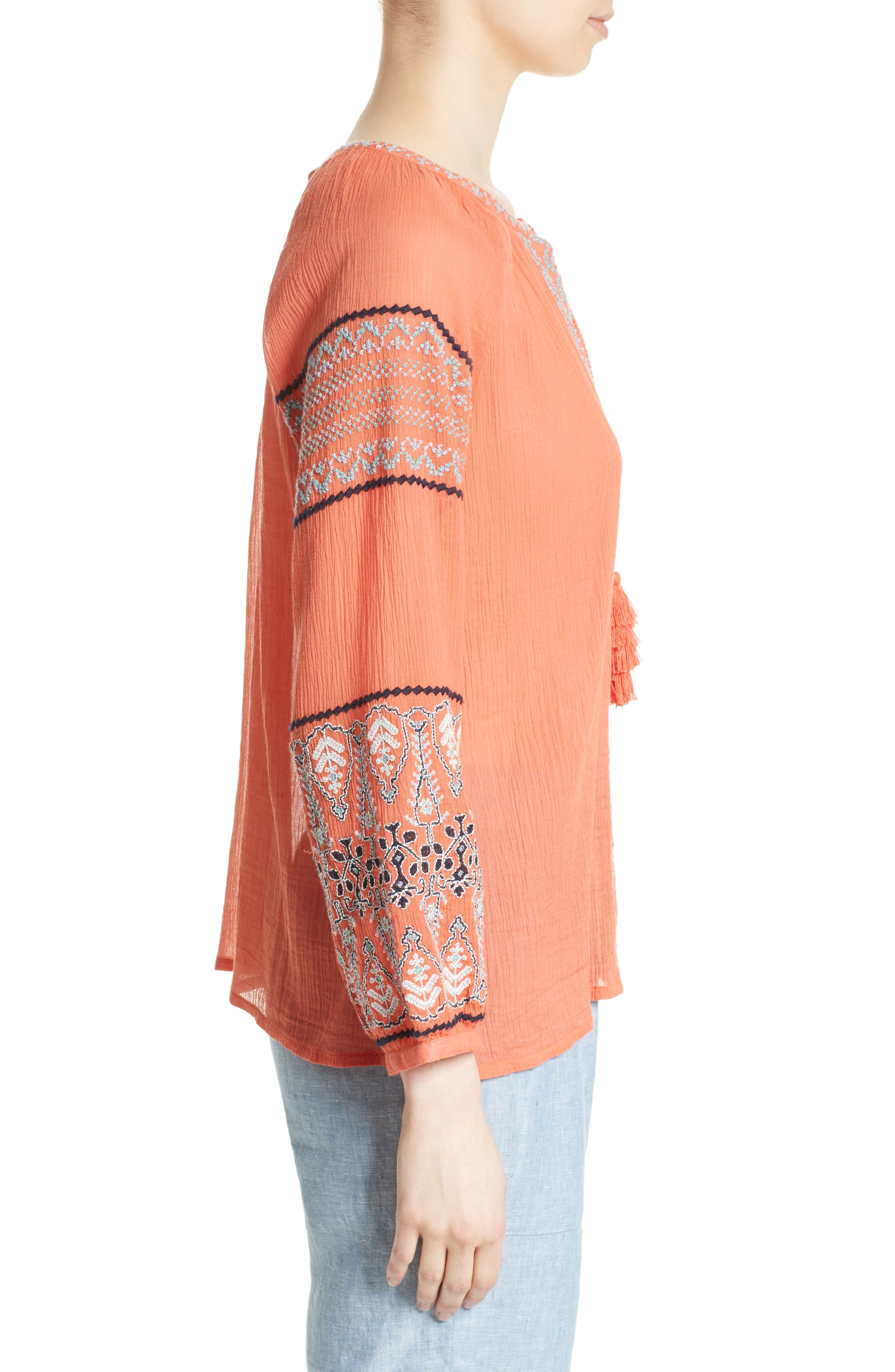 Alternate Image 3  - Joie Nelida Embroidered Cotton Blouse