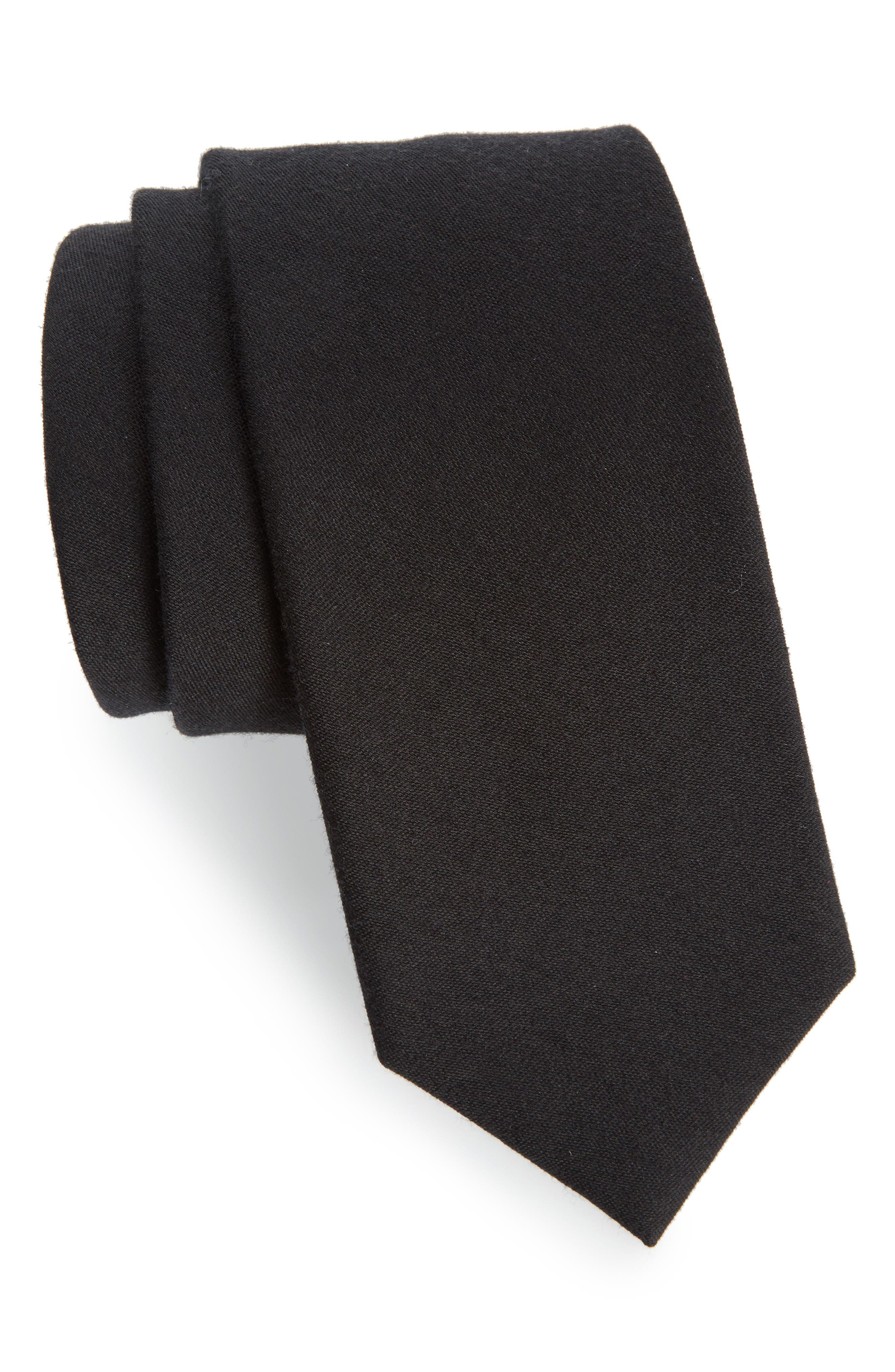 The Tie Bar Solid Wool & Silk Tie