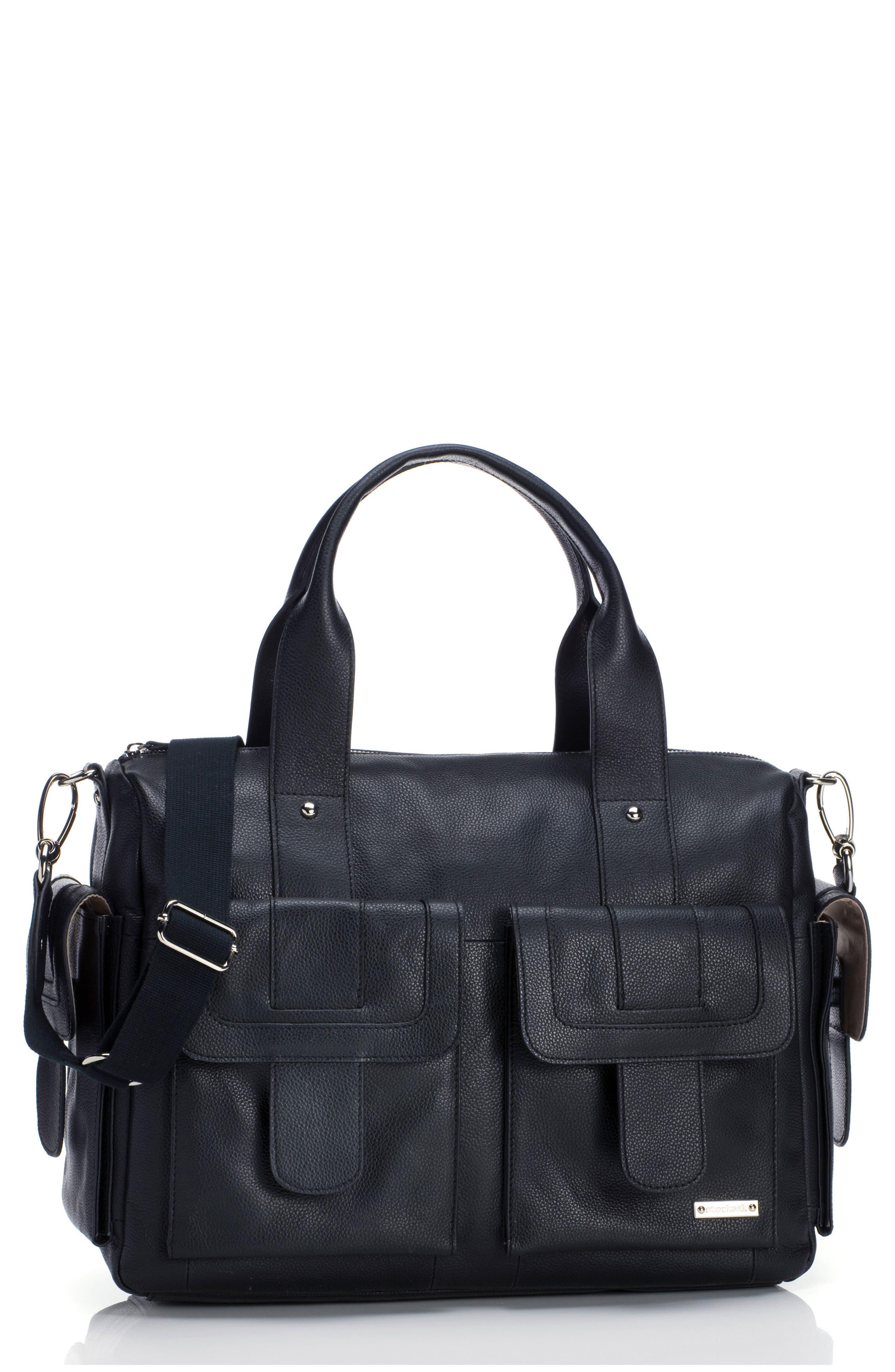 Main Image - Storsak 'Sofia' Leather Diaper Bag