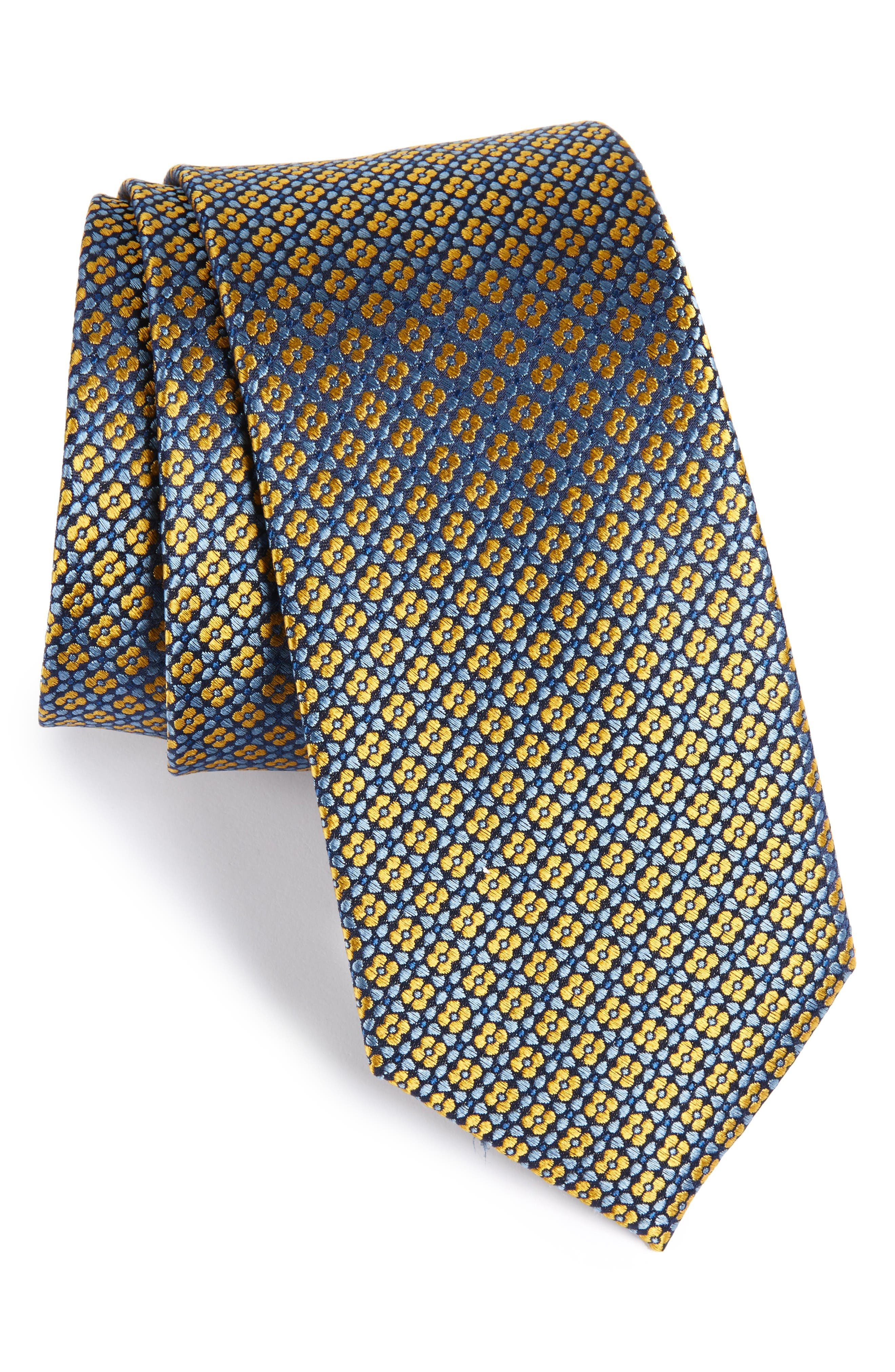 The Tie Bar Aerial Geo Silk Tie