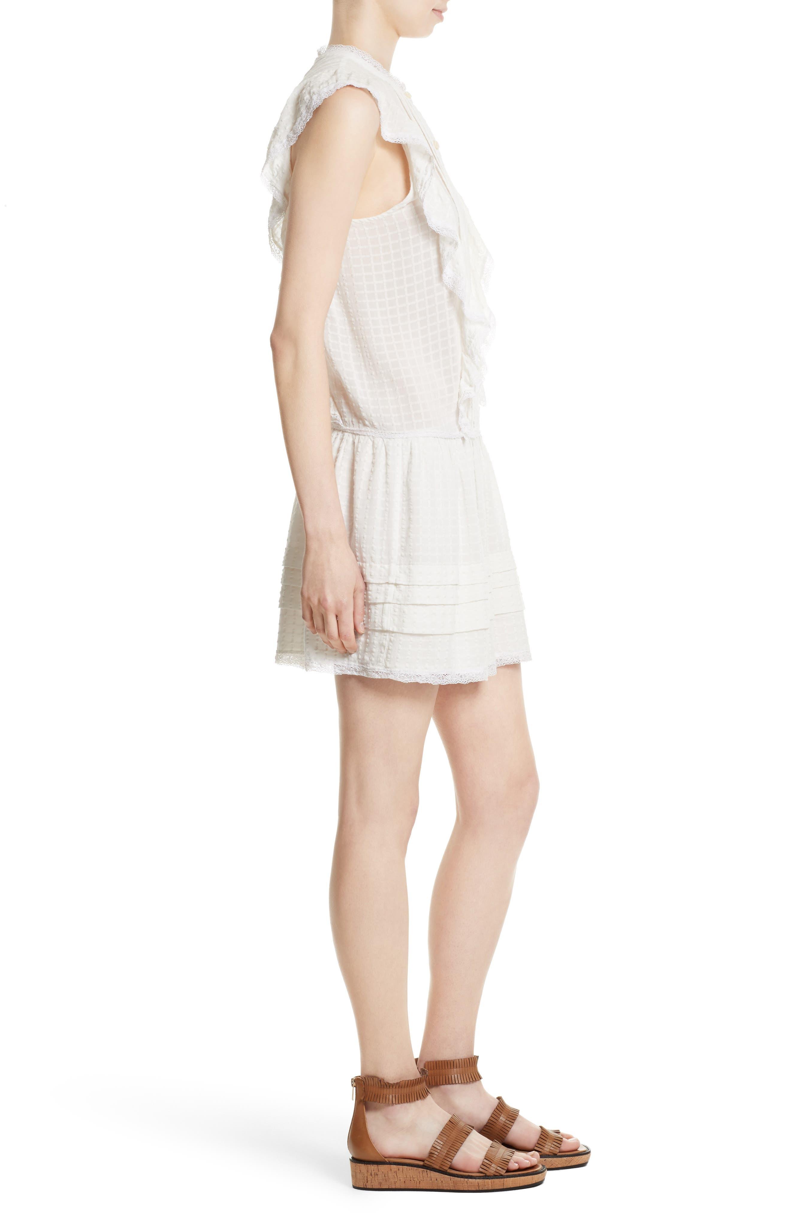 Alternate Image 3  - La Vie Rebecca Taylor Draped Ruffle Dress