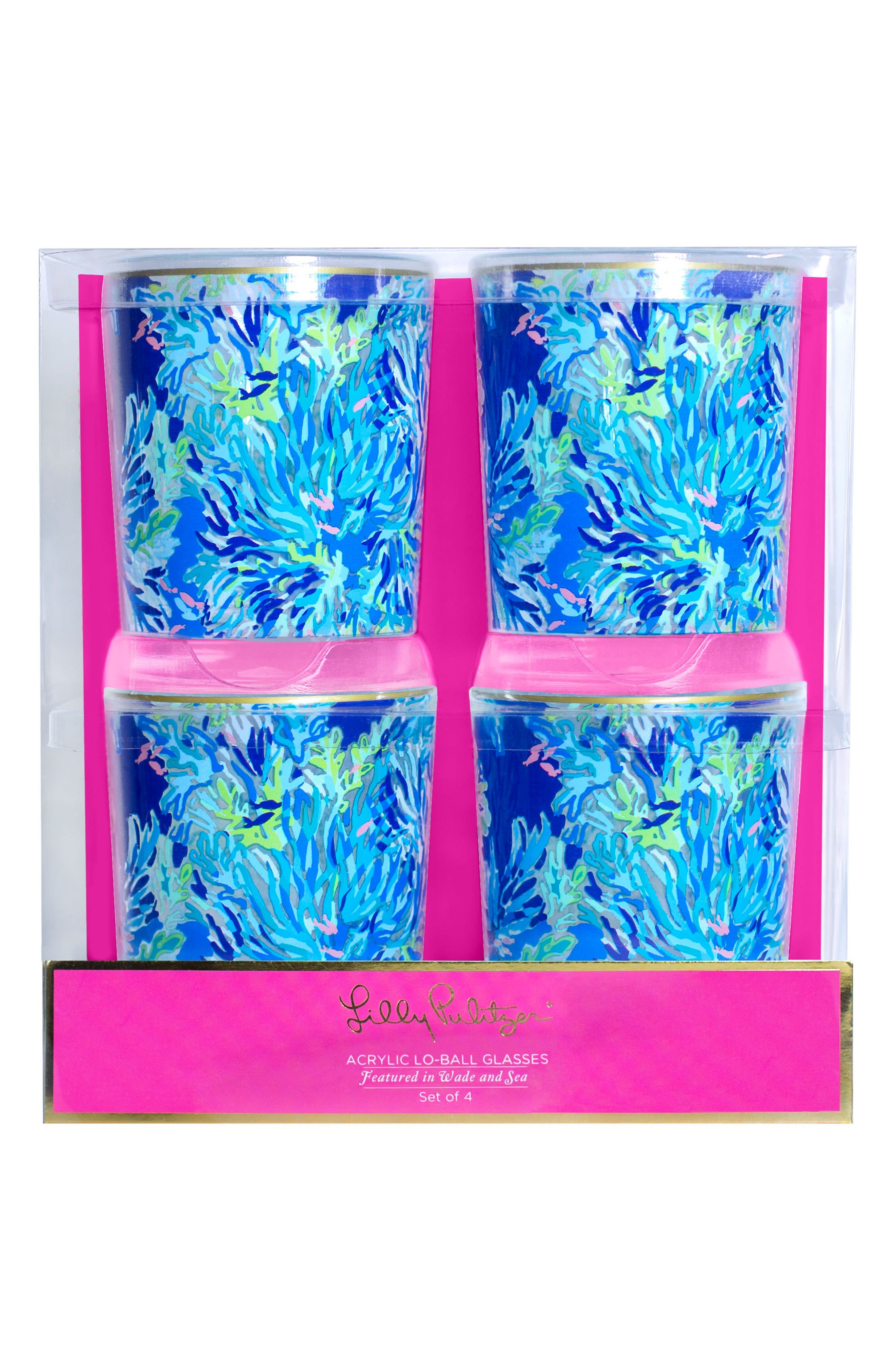 Lilly Pulitzer® Set of 4 Lowball Glasses