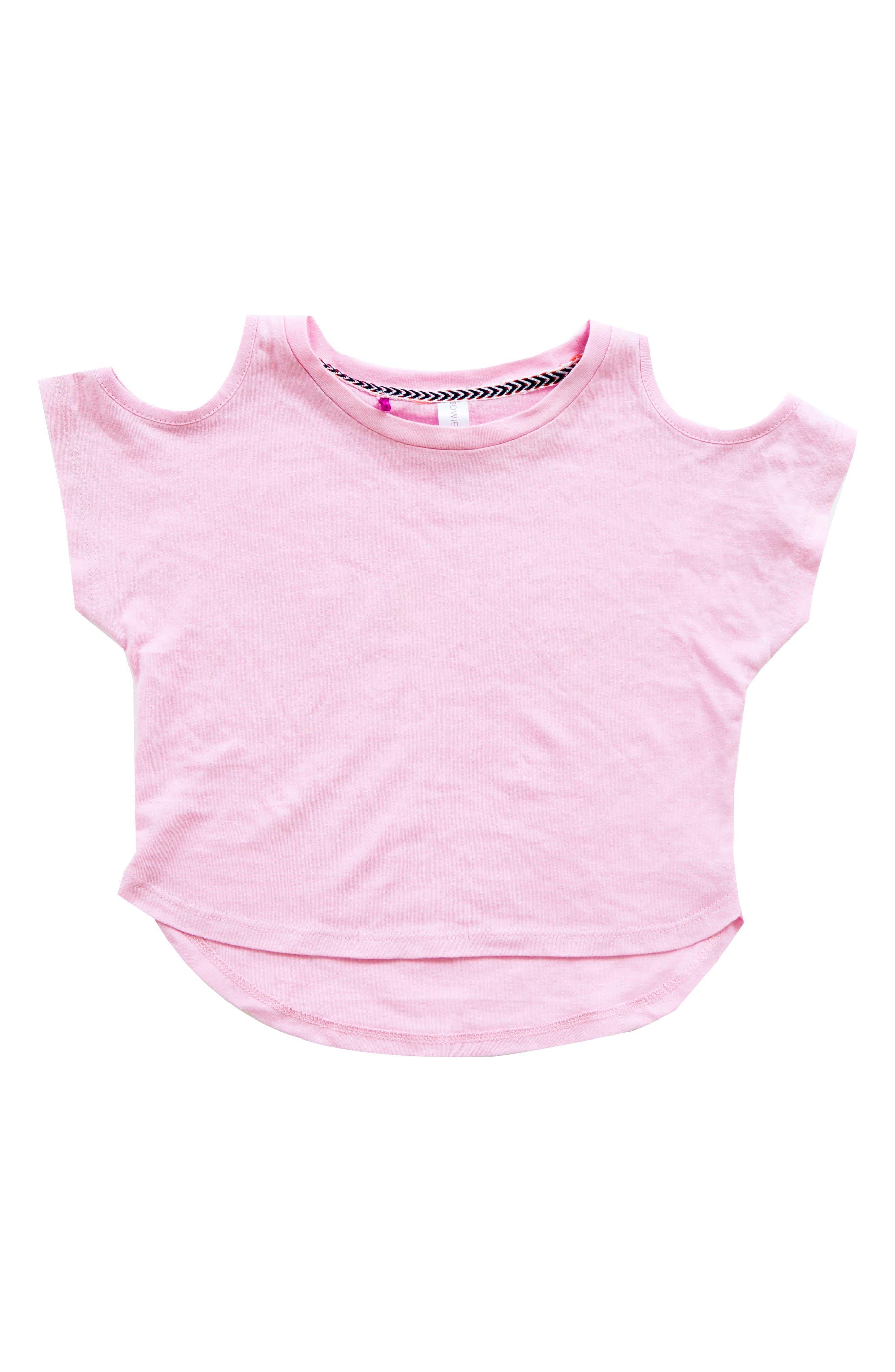 Bowie James Oasis Cold Shoulder Tee (Toddler Girls, Little Girls & Big Girls)