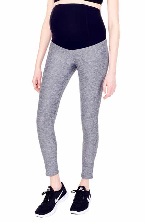 Ingrid   Isabel® 'Active' Maternity Leggings with Crossover Panel