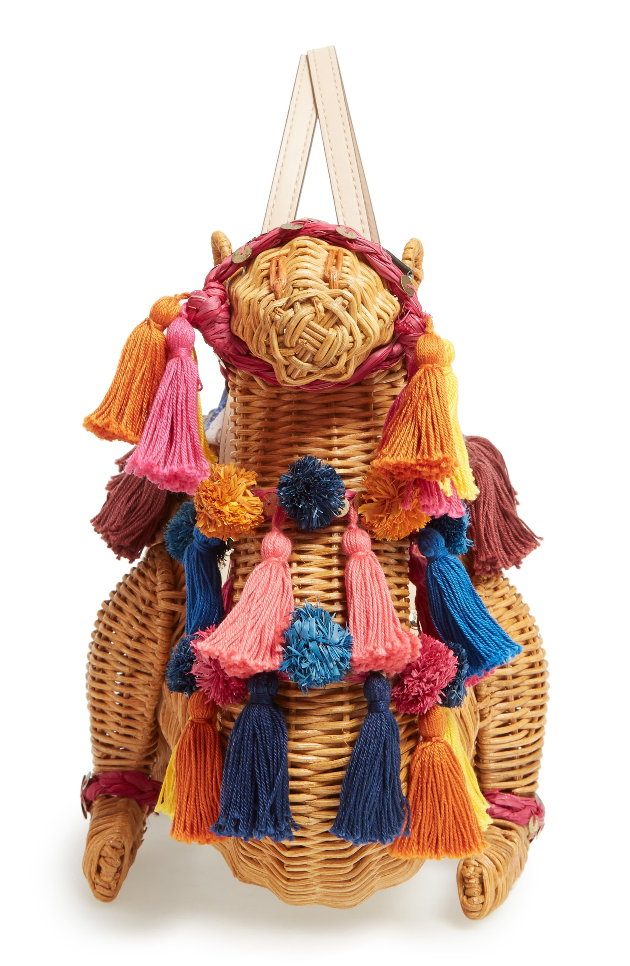 Alternate Image 5  - kate spade new york spice things up wicker camel handbag